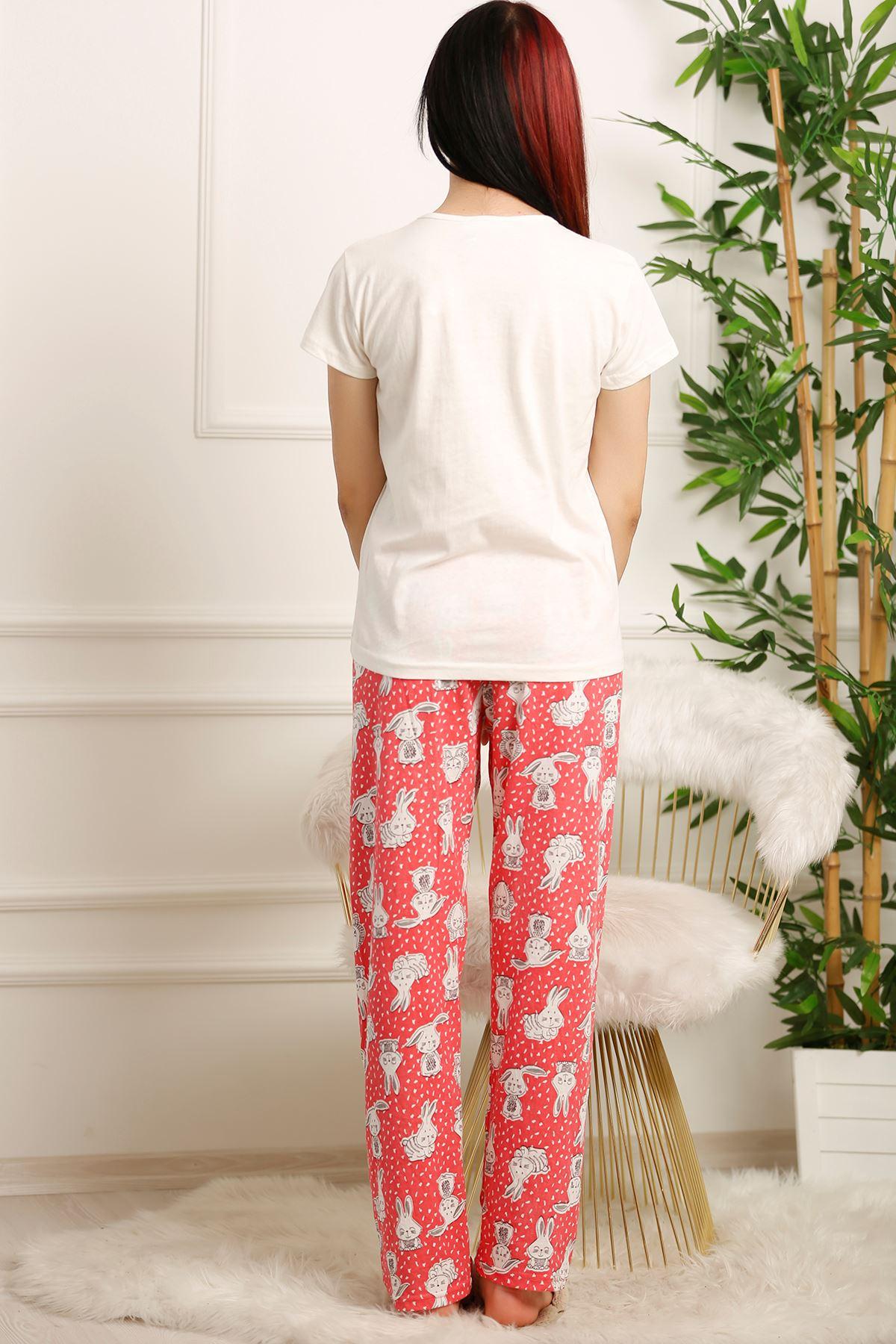 Kadın Pijama Takımı Kırıkbeyaz - 5031.1059.