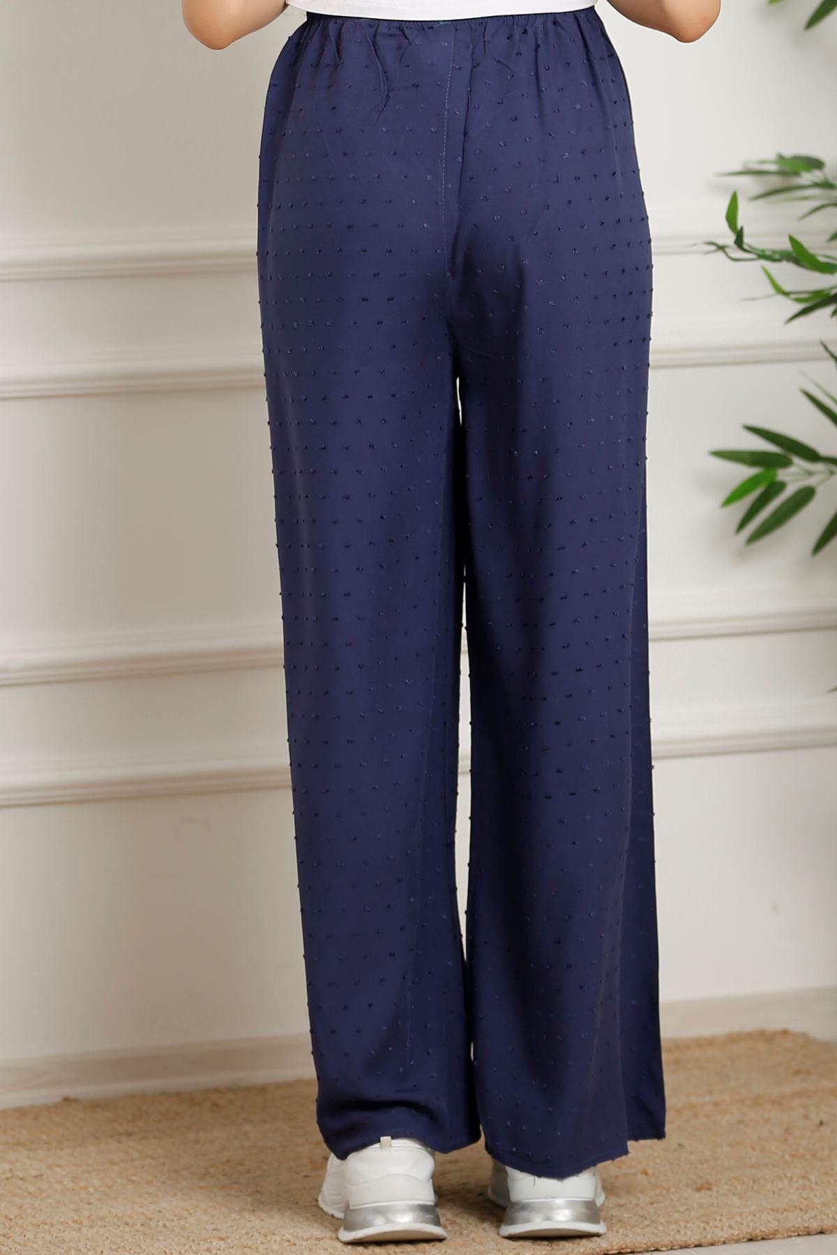 Kemerli Trend Bol Pantolon Noktalıindigo - 0752.128.