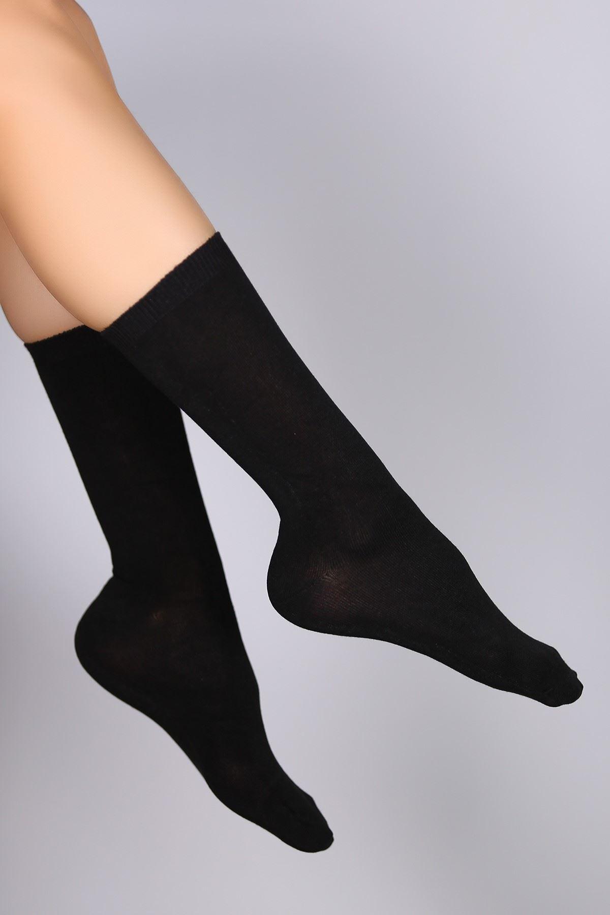Bambu Dikişsiz Soket Çorap Siyah - 8888.1114.