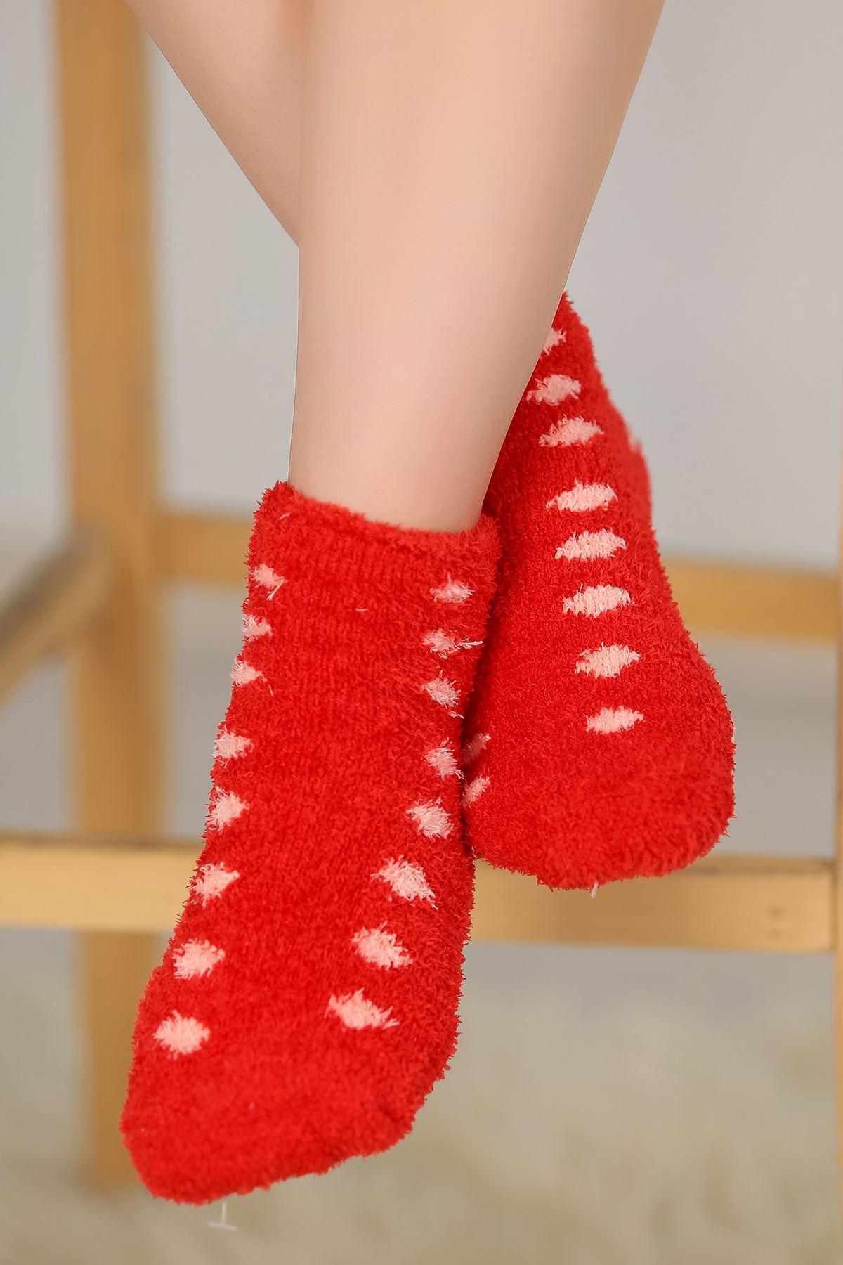 Puanlı Havlu Çorap Kırmızı - 48500.1114.