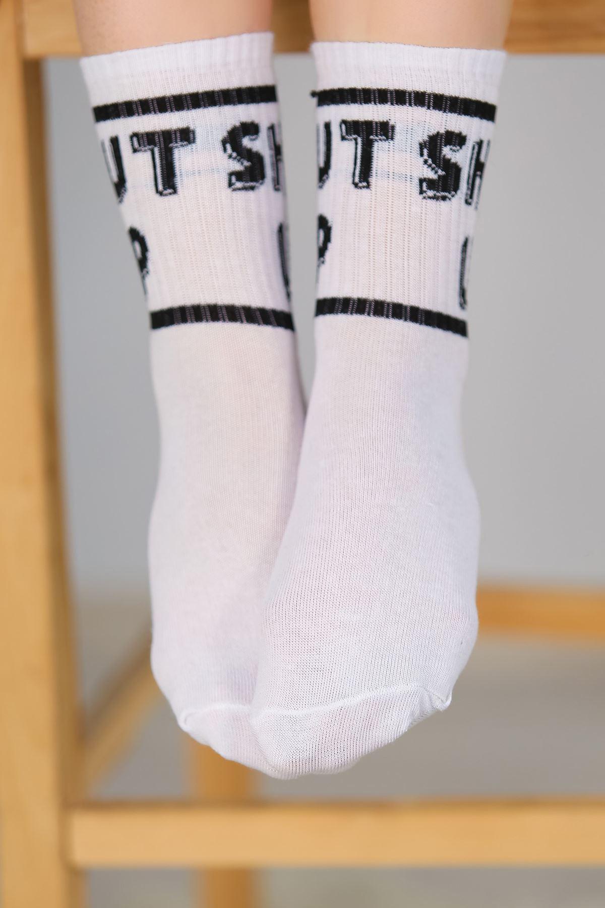Soket Çorap Beyazsiyah - 10106.1114.