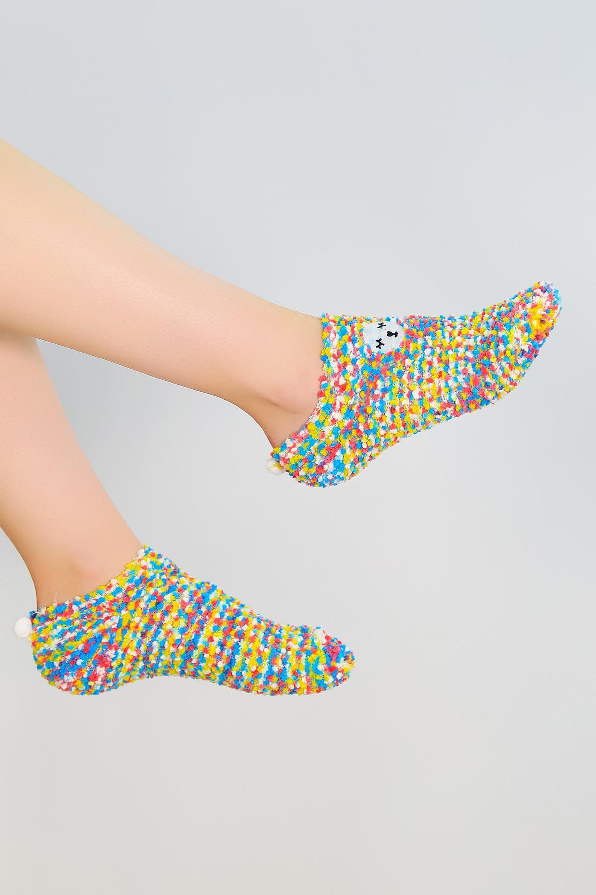 Ponponlu Çorap Rengarenk - 48950.1114.