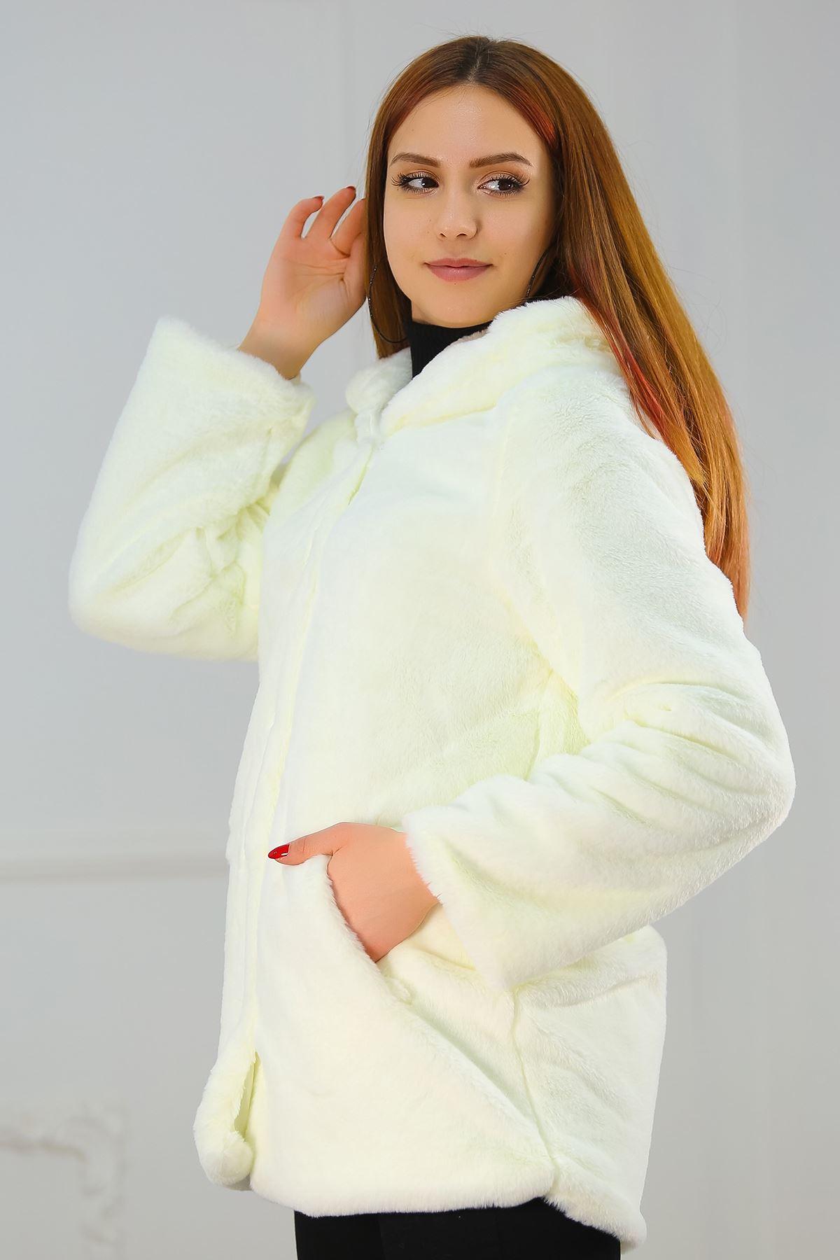 Astarlı Yumoş Ceket Beyaz - 20004.101.