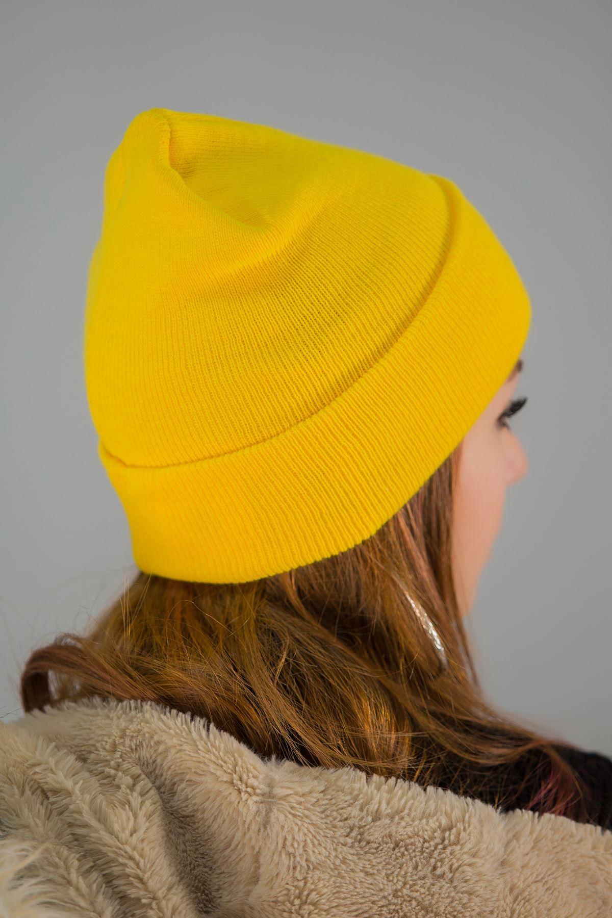 Katlamalı Bere Sarı - 3484.1100.