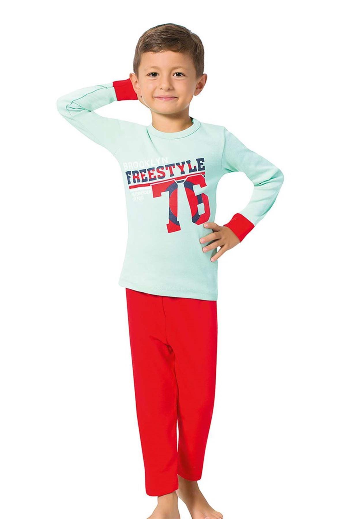 Erkek Çocuk Uzun Kol Pijama Takımı