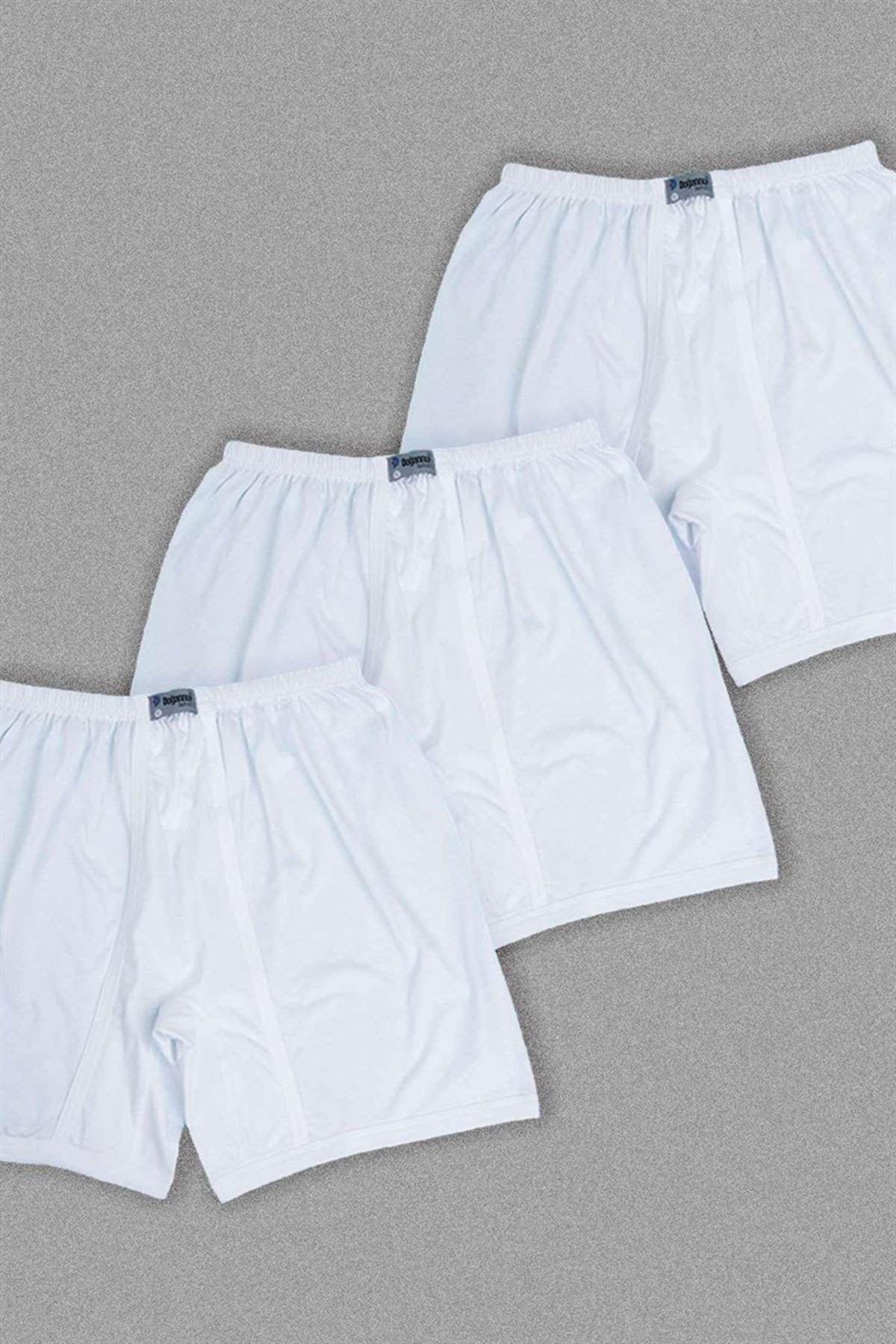 Erkek Spordon 3'lü Boxer Set Beyaz