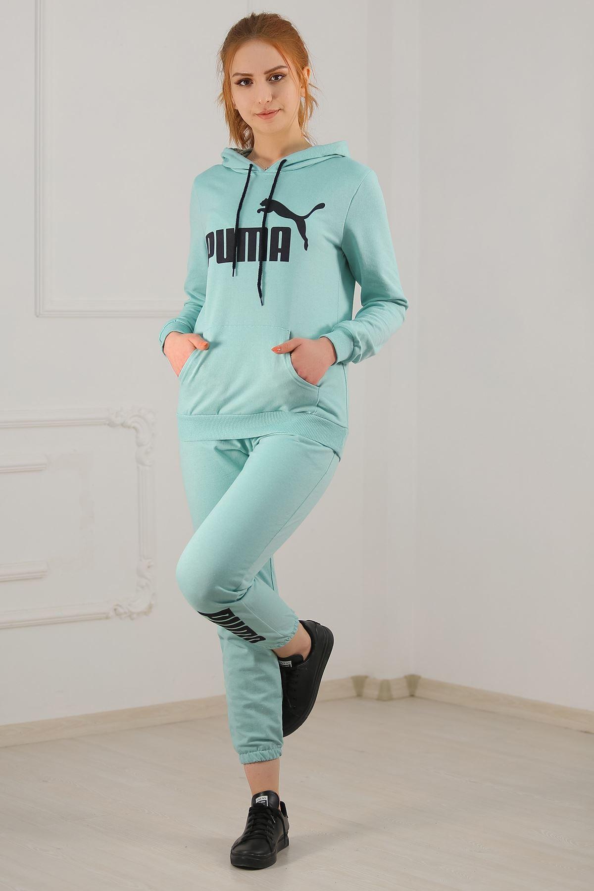 Kadın Eşofman Takımı Mint - 21010.1059.