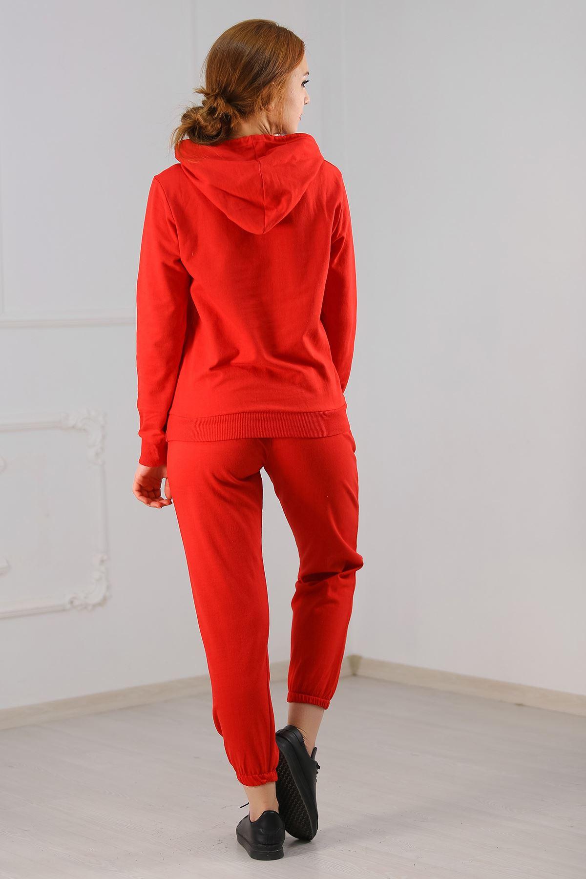 Kadın Eşofman Takımı Kırmızı - 21013.1059.