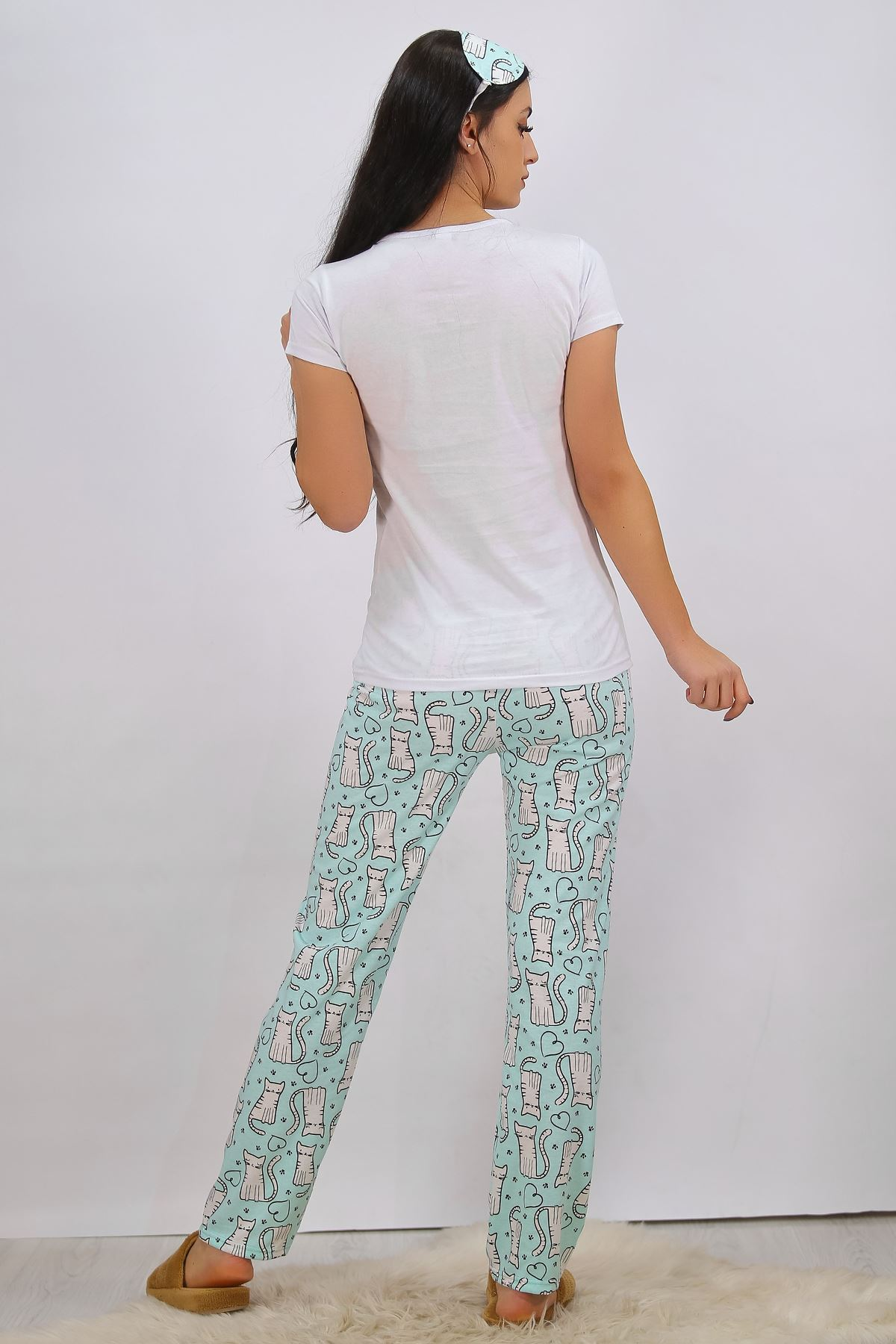 Baskılı Pijama Takımı Beyaz - 4696.102.