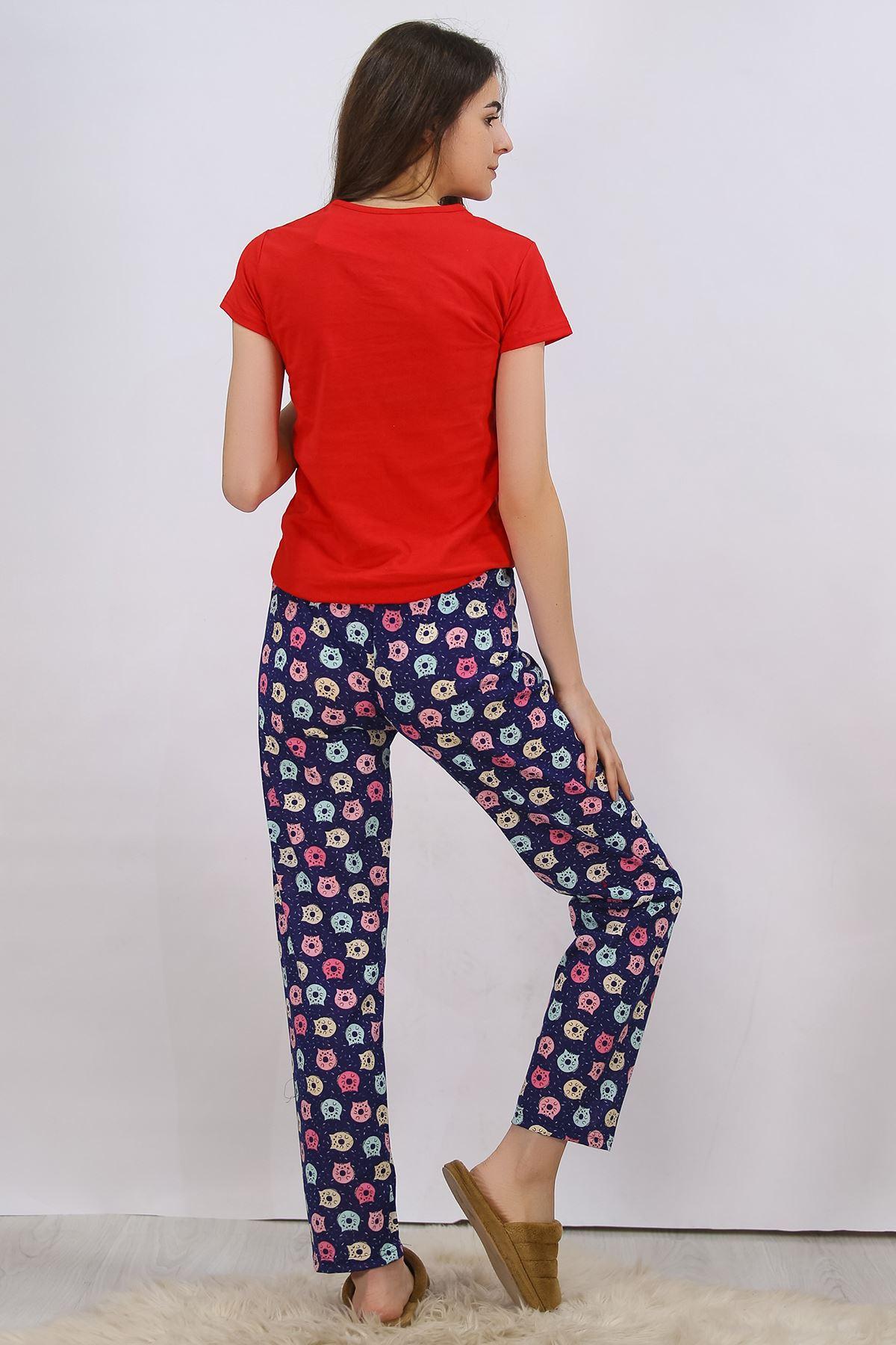 Baskılı Pijama Takımı Kırmızı - 4701.102.