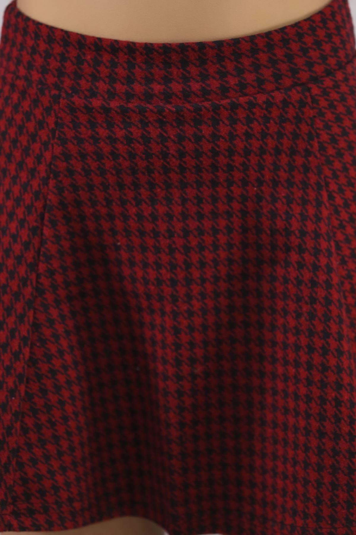 Kışlık Kloş Etek Siyahbordo - 5582.316.
