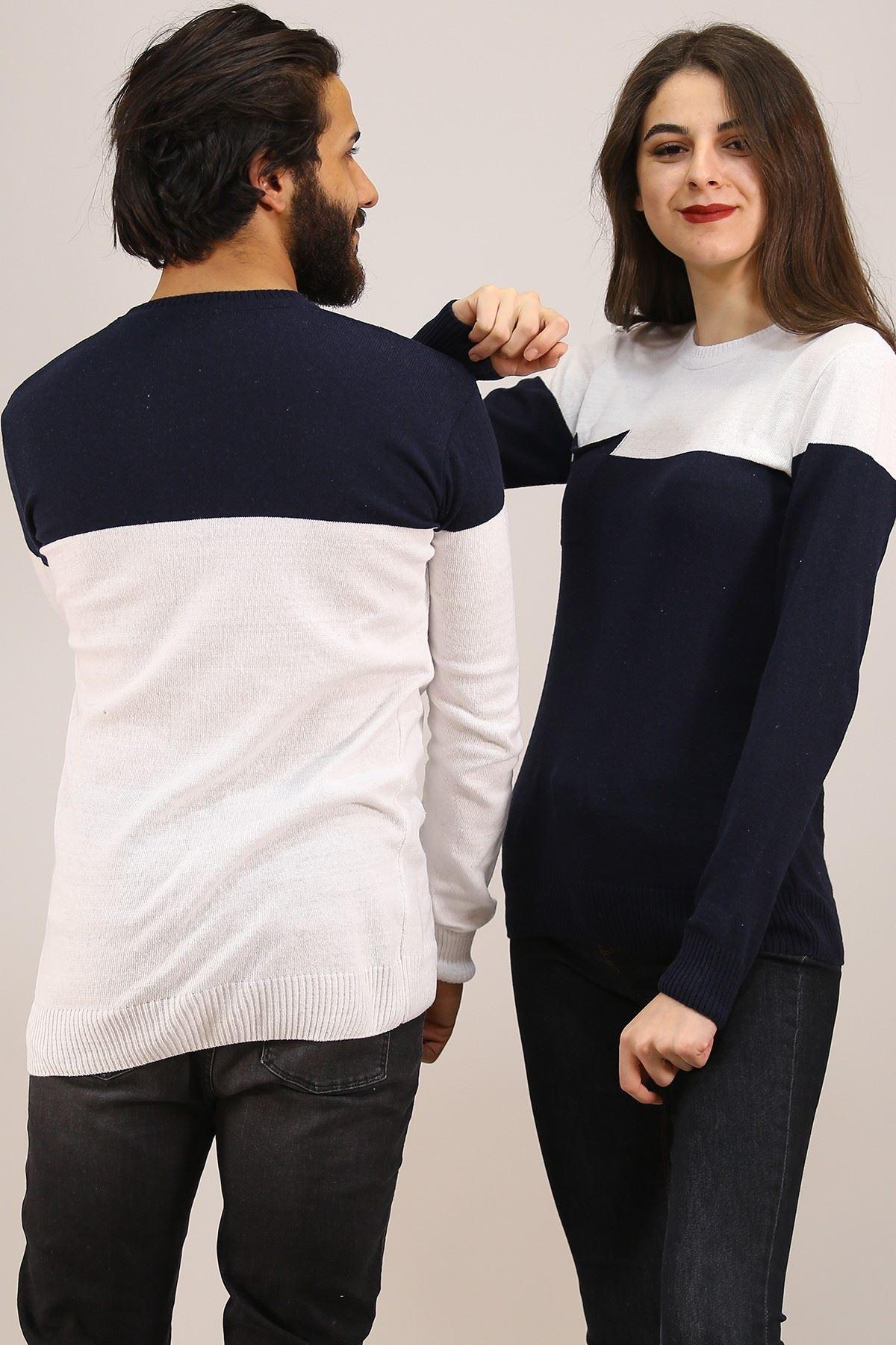 İki Renk Sevgili Kombini Beyazlaci - 4763.1319.