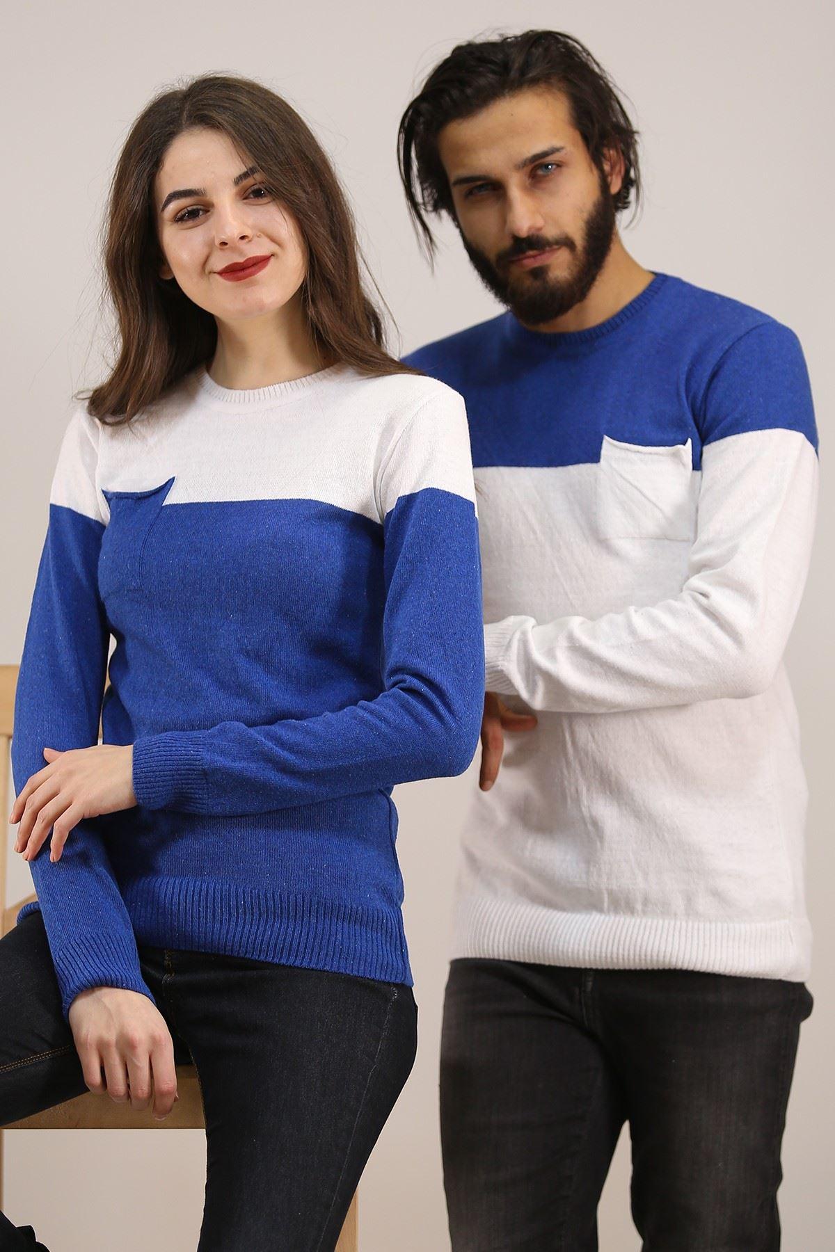 İki Renk Sevgili Kombini Beyazsaks - 4763.1319.