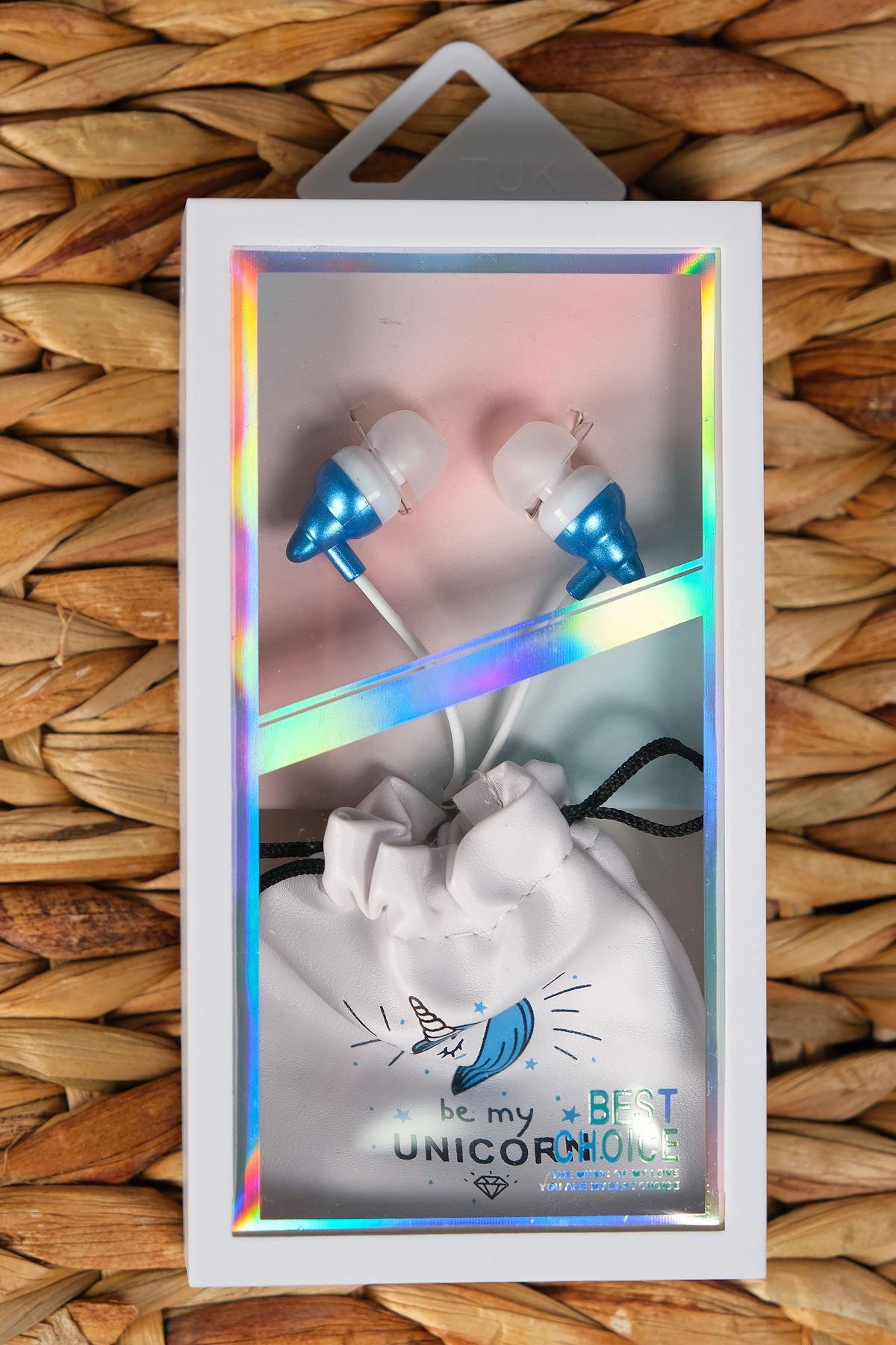 Unıcornlu Kulaklık Mavi - 4924.1100.