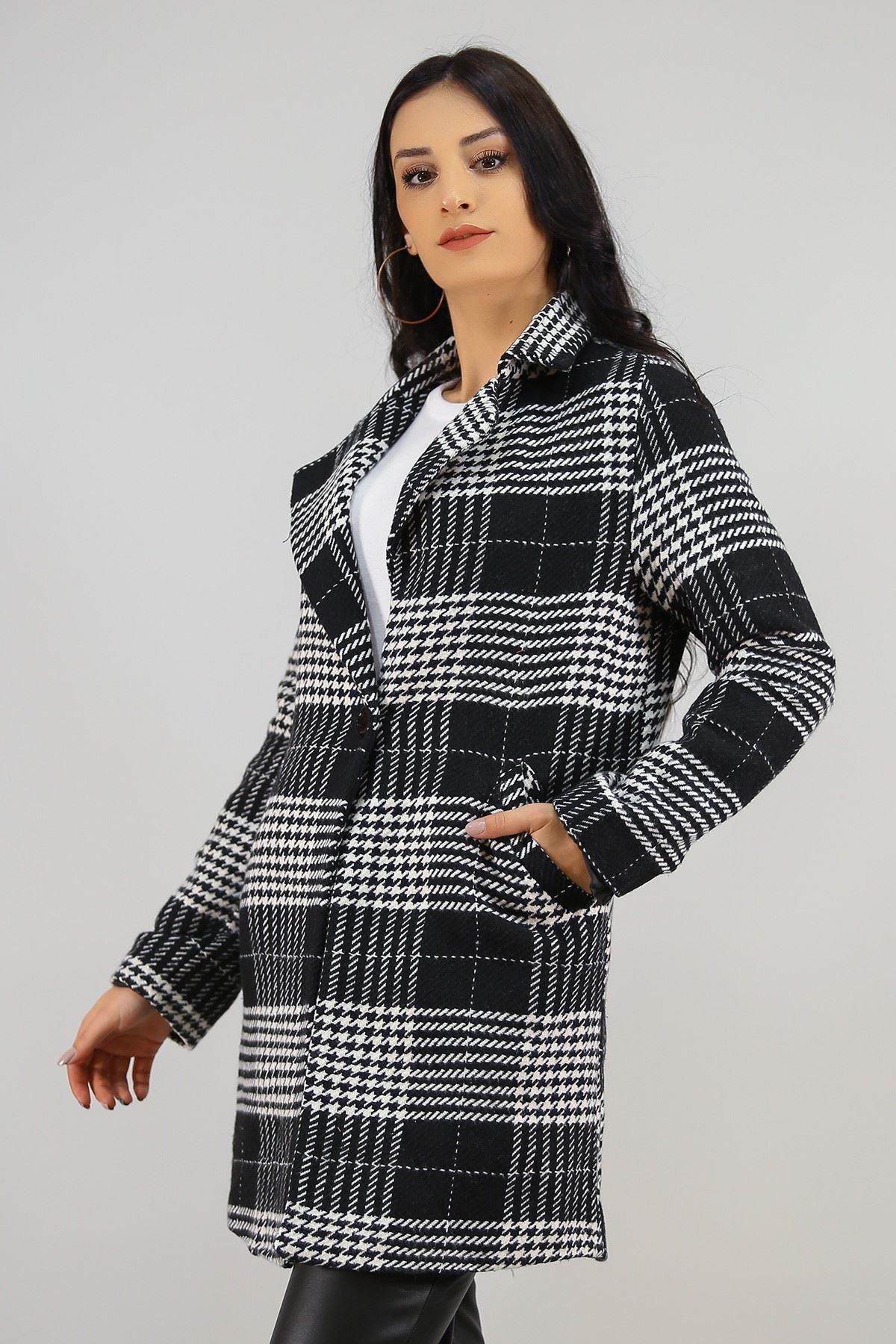 Astarlı Ceket Siyahbeyaz - 19151.101.
