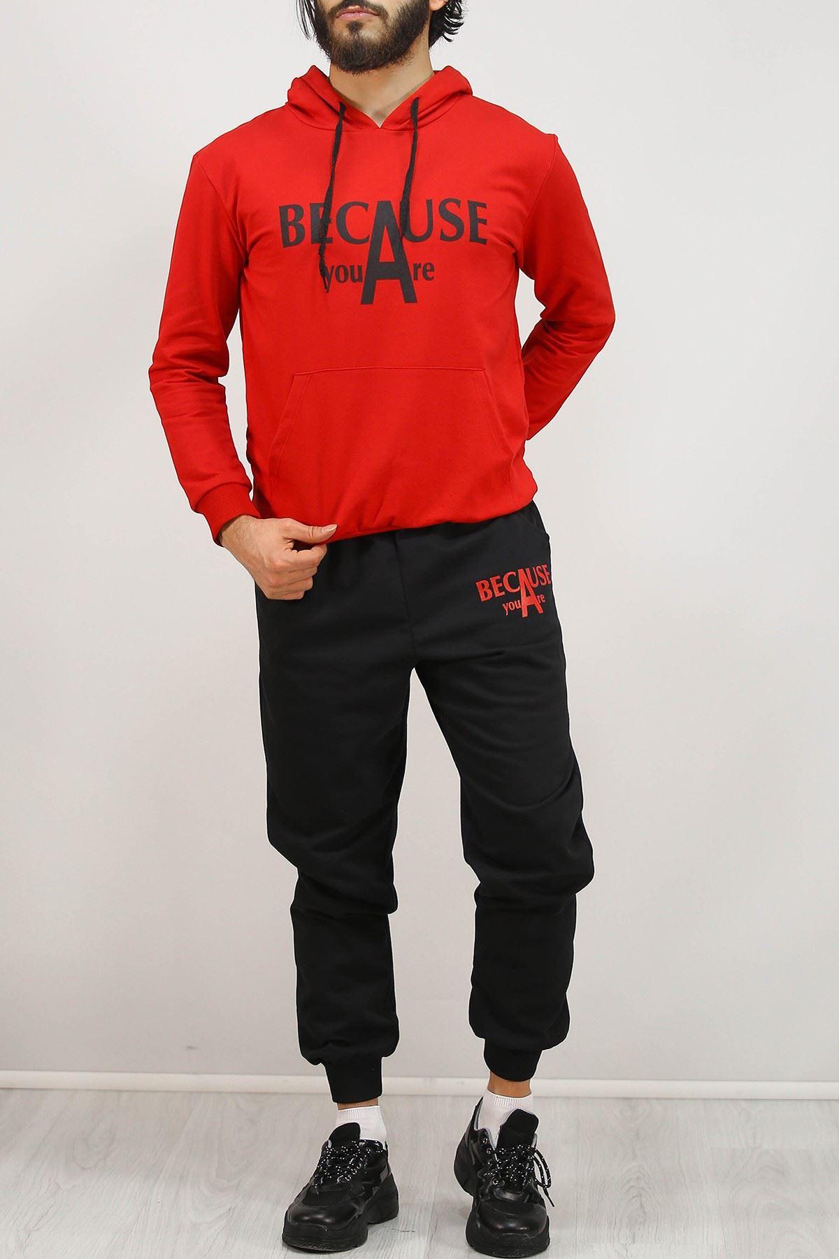 Erkek Sevgili Kombin Eşofman Takımı Kırmızı - 4978.1005.