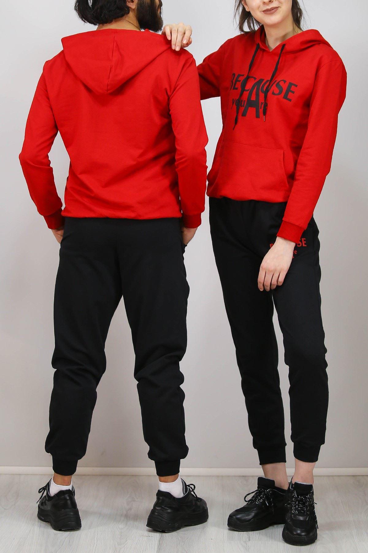 Sevgili Kombini Eşofman Takımı Kırmızı