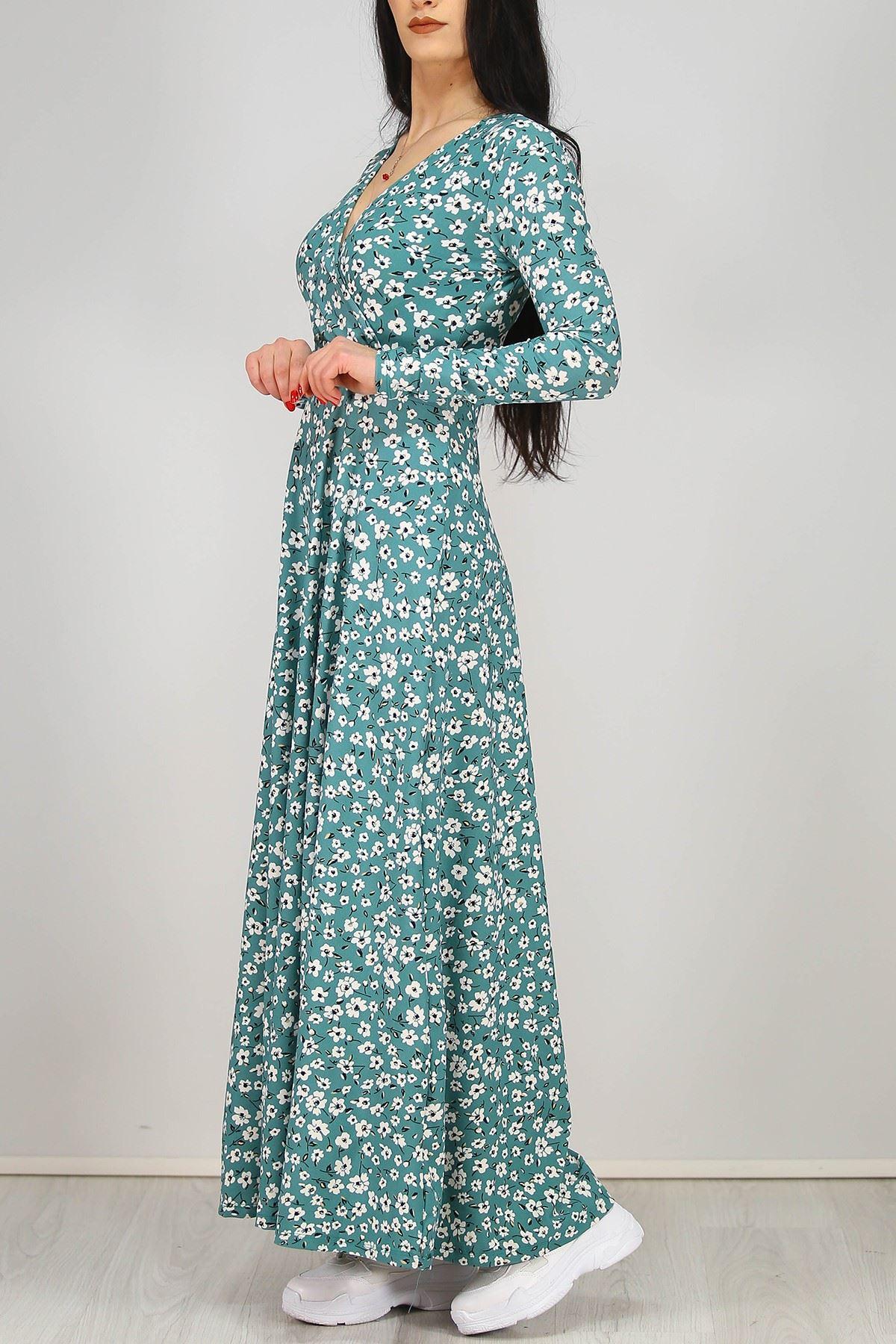 Çiçekli Elbise Mint - 4987.716.