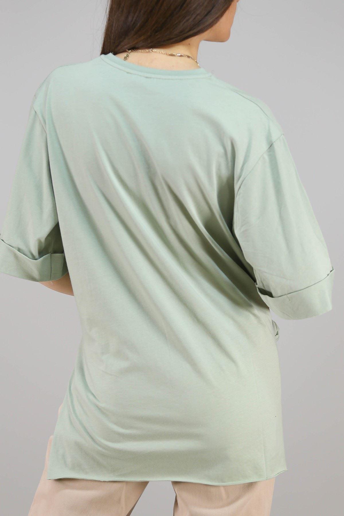 Baskılı Tişört Mint - 3660.222.