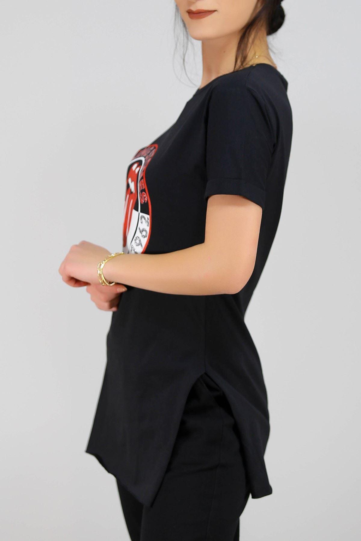 Baskılı Tişört Siyah - 4995.336.