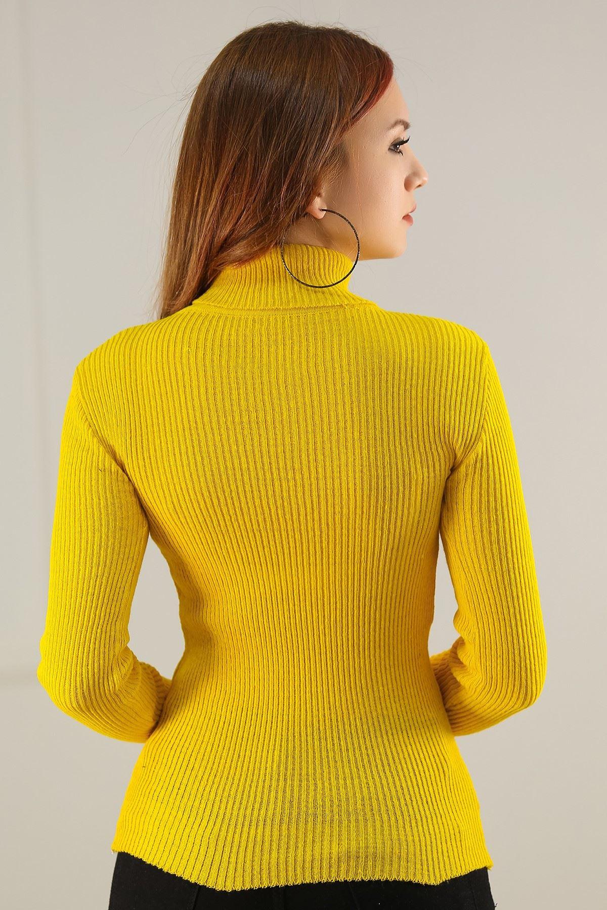 Boğazlı Body Sarı - 4592.1319.
