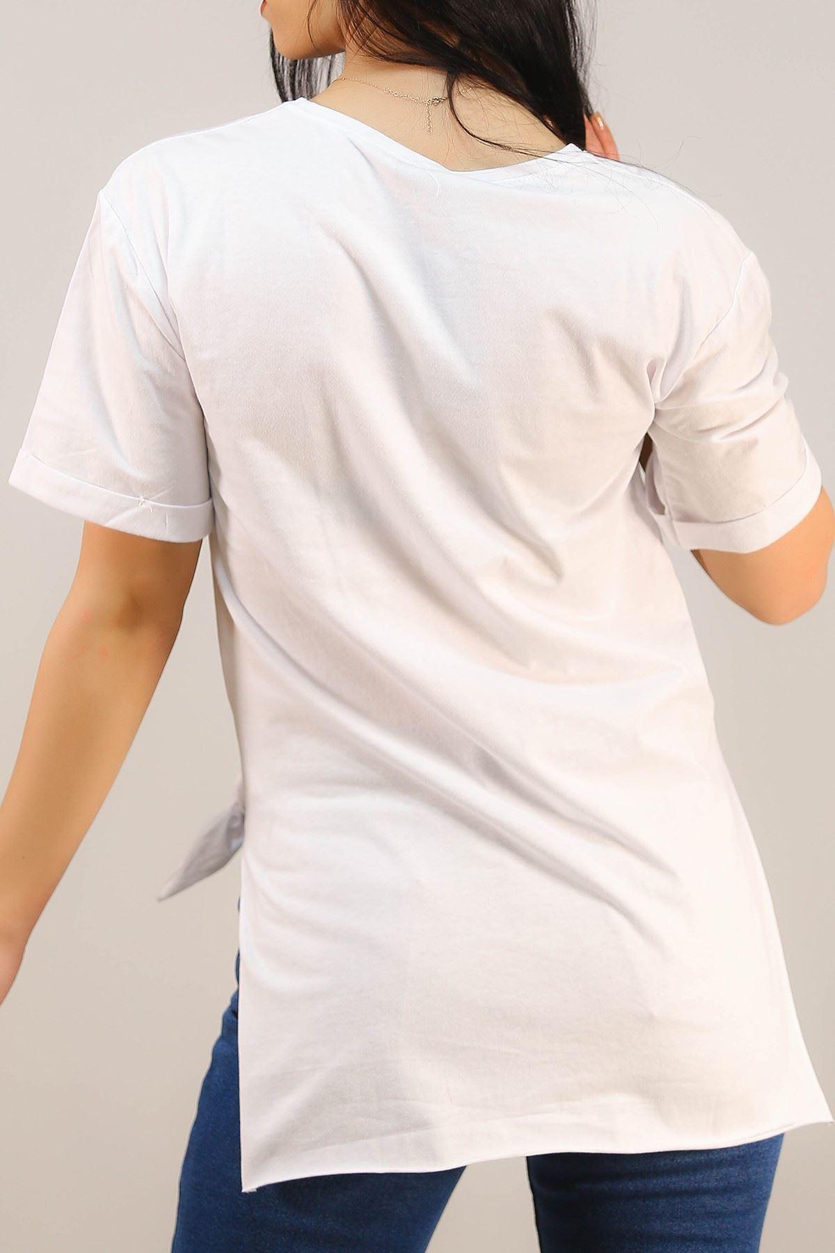 Yazılı Tişört Beyaz - 4996.336.