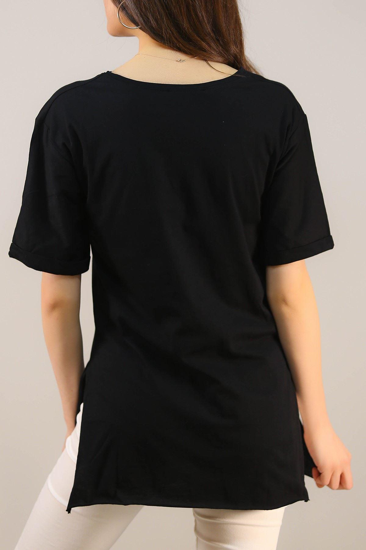 Yazılı Tişört Siyah - 4996.336.