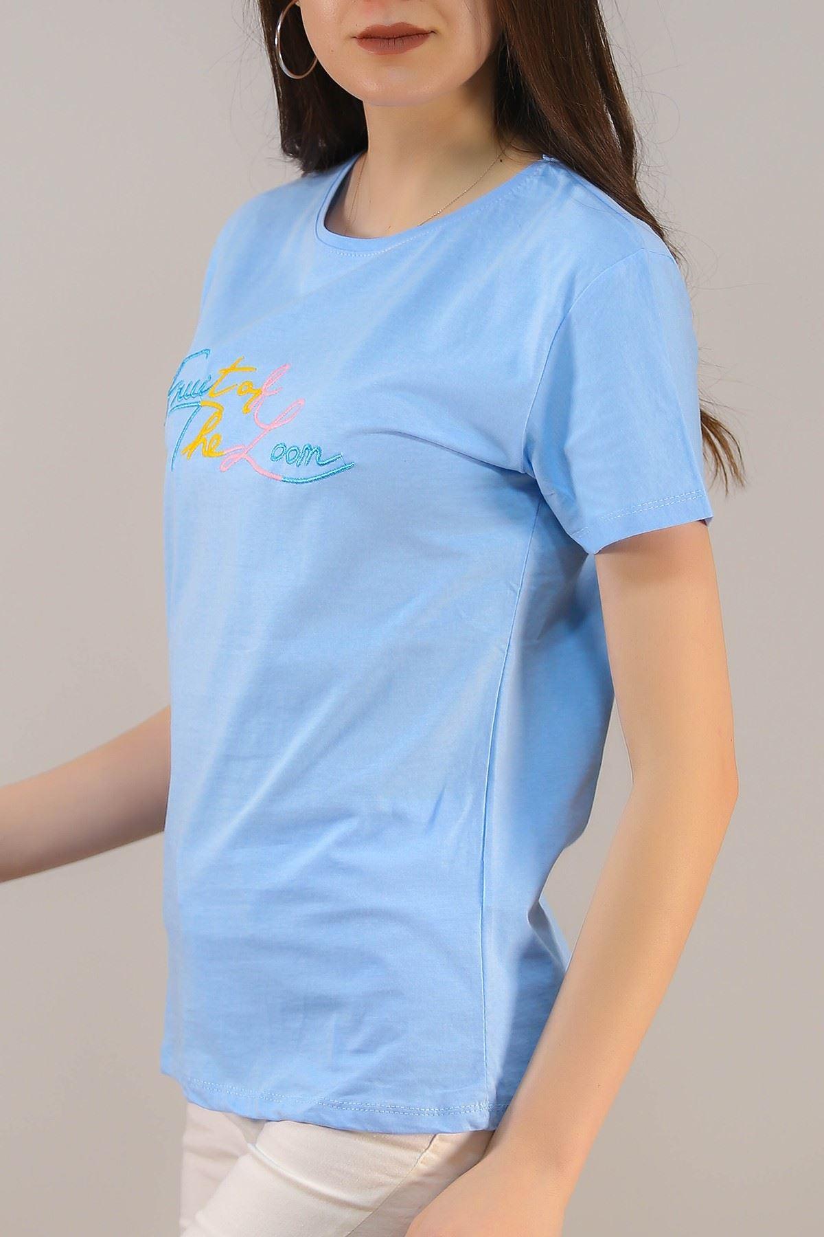 Nakışlı Tişört Bebemavi - 4997.336.