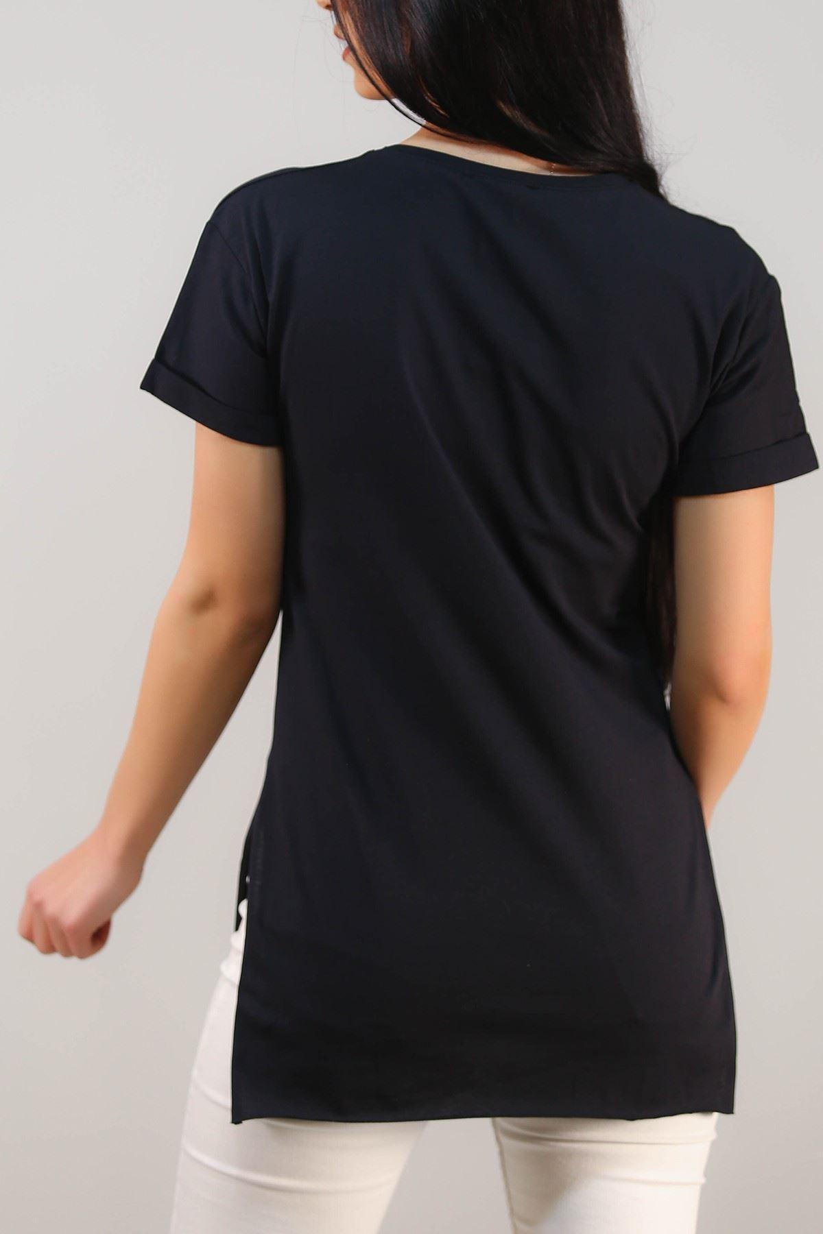 Baskılı Tişört Siyah - 4999.336.
