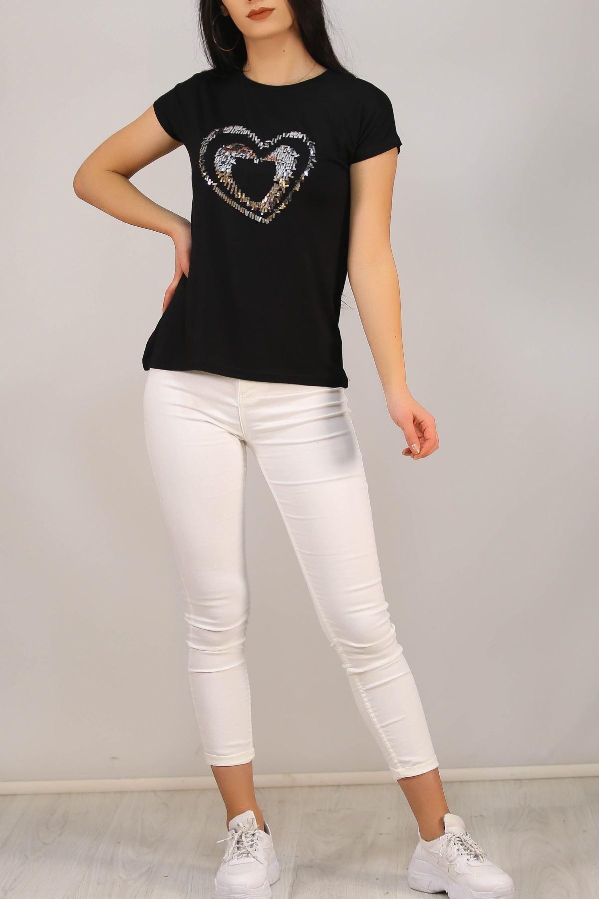 Pul Kalpli Tişört Siyah - 5026.139.