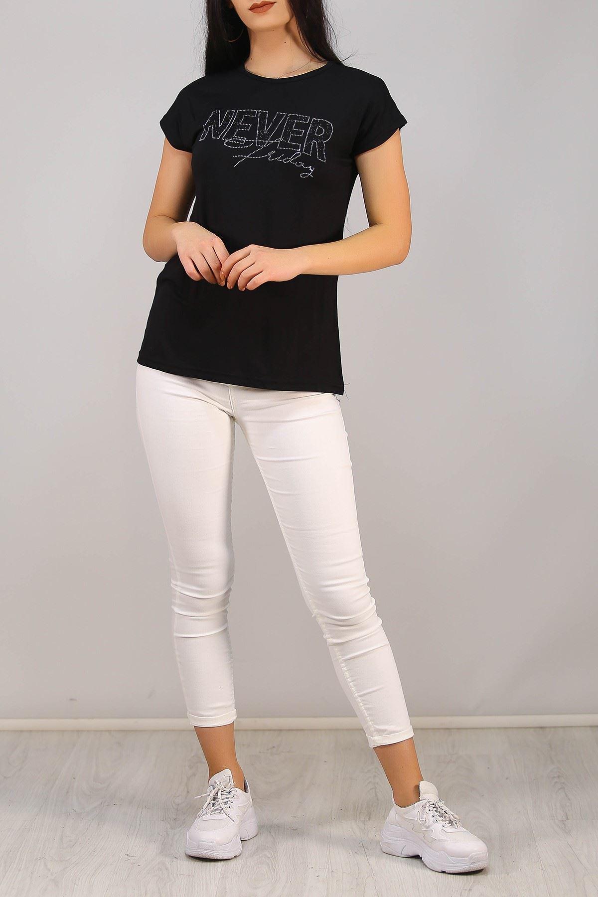 Taşlı Tişört Siyah - 5028.139.