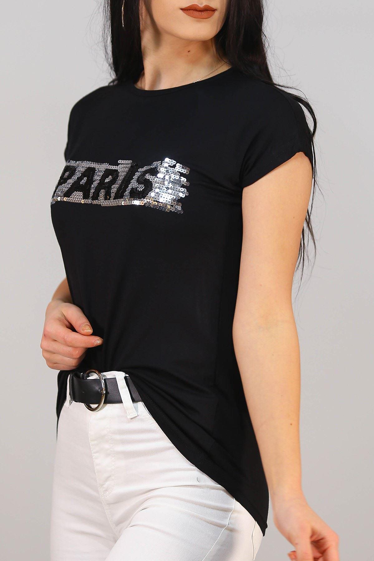 Paris Baskı Tişört Siyah - 5051.139.