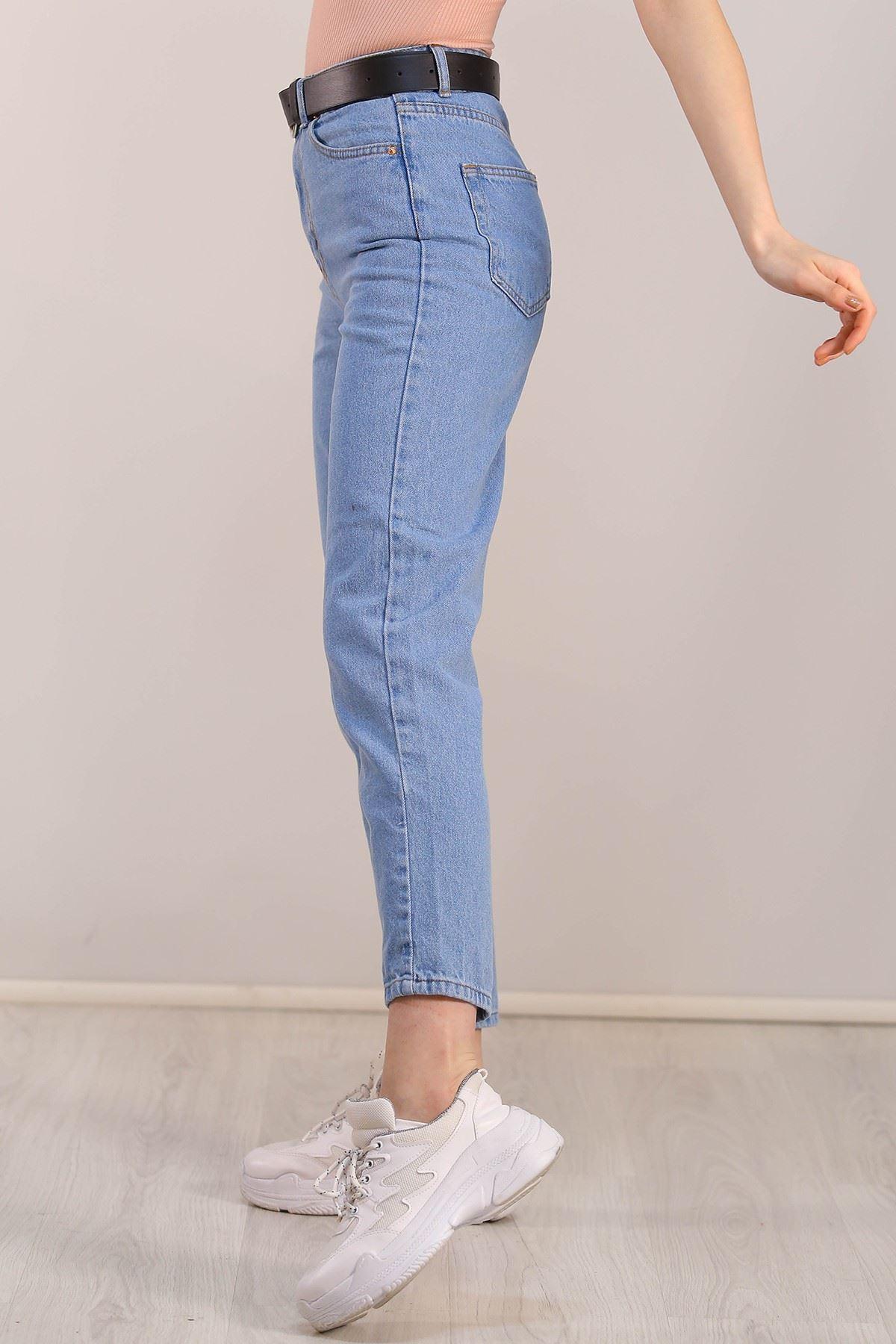 Kadın Mom Jeans Açıkmavi - 2411.392.