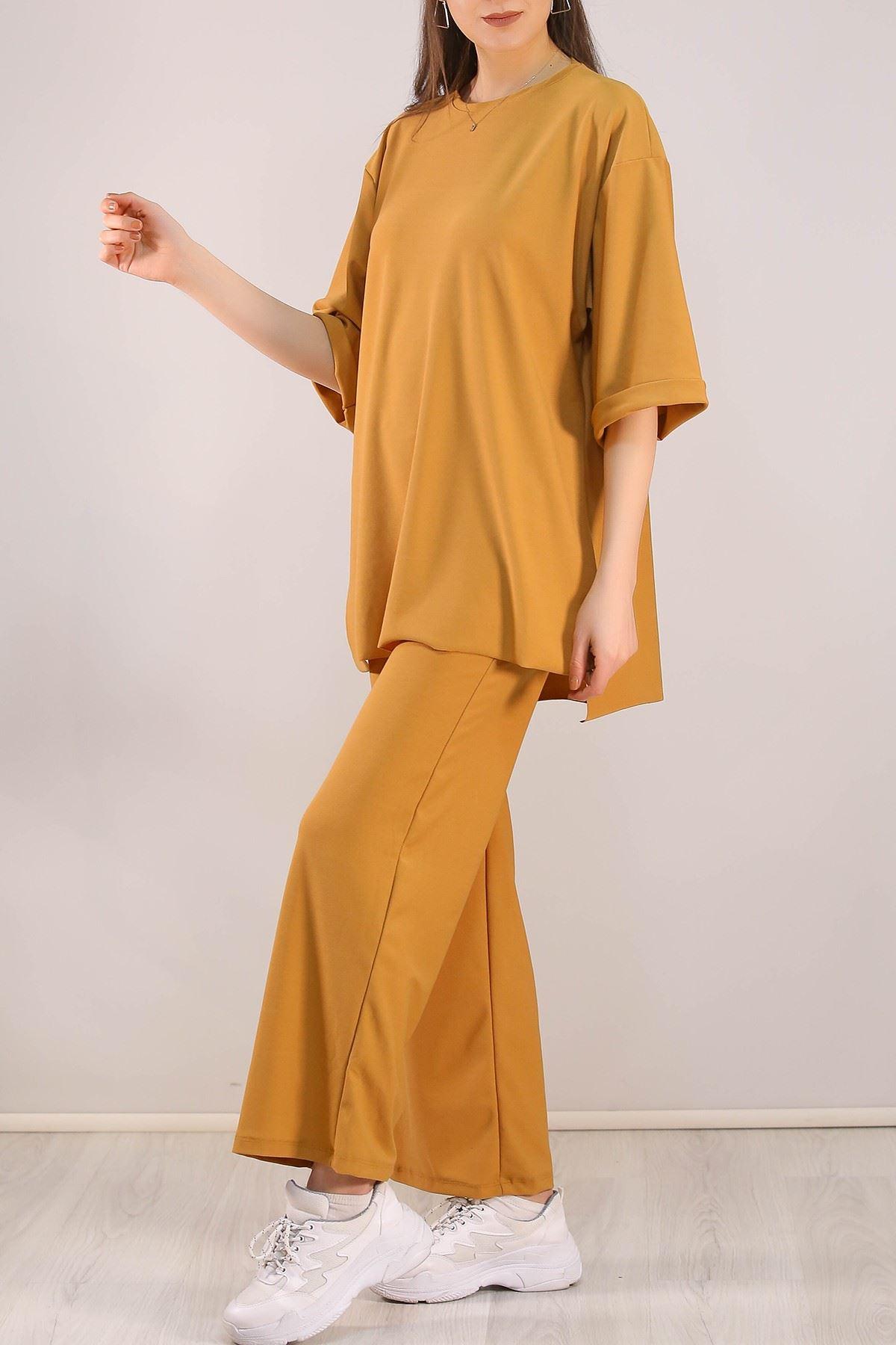 Duble Kol Örme Takım Camel - 5064.994.