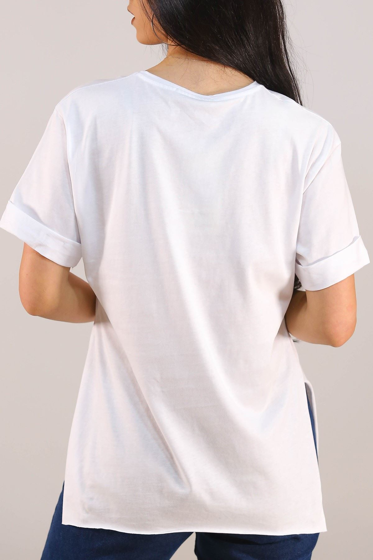 Baskılı Tişört Beyaz - 5080.275.