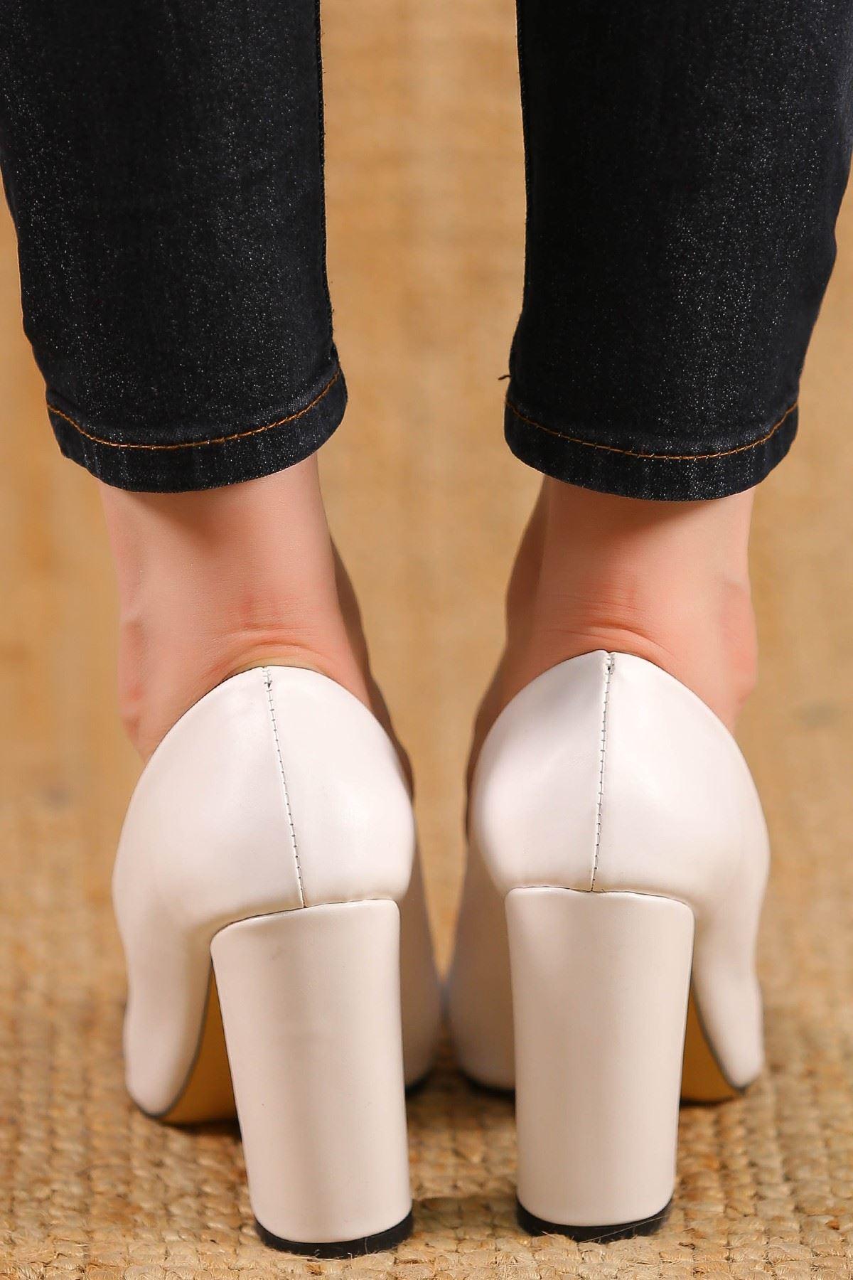 9Cm Topuklu Ayakkabı Beyaz - 3905.264.