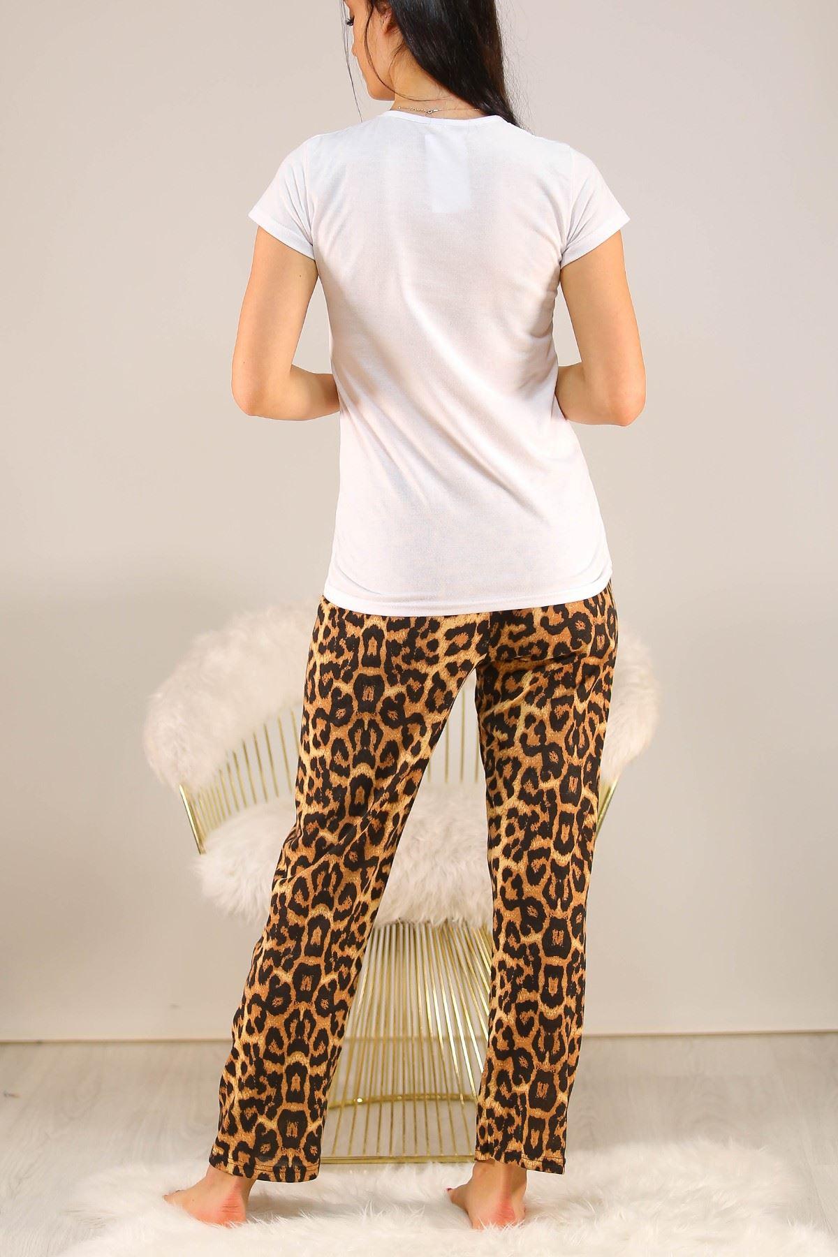 Baskılı Pijama Takımı Beyaz - 5096.102.