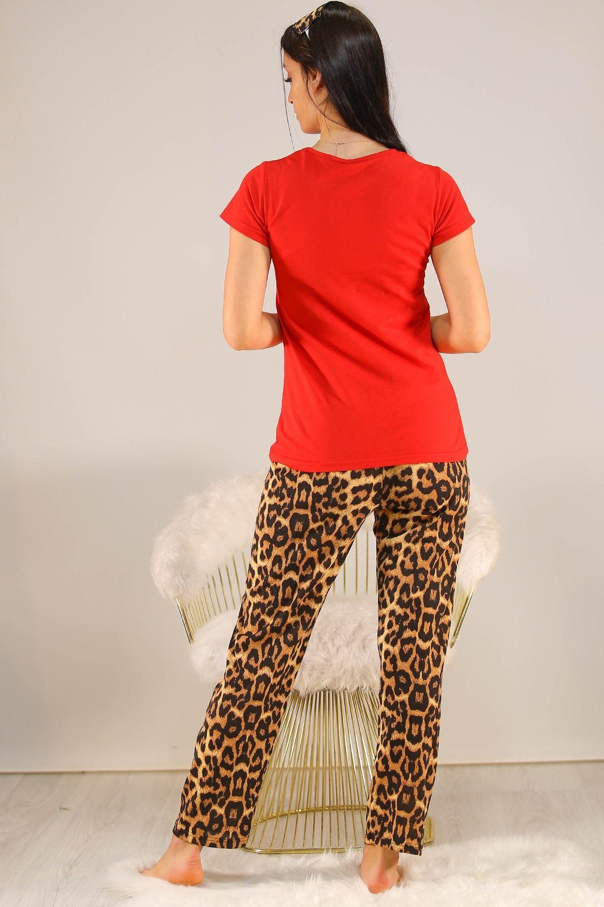 Baskılı Pijama Takımı Kırmızı - 5096.102.