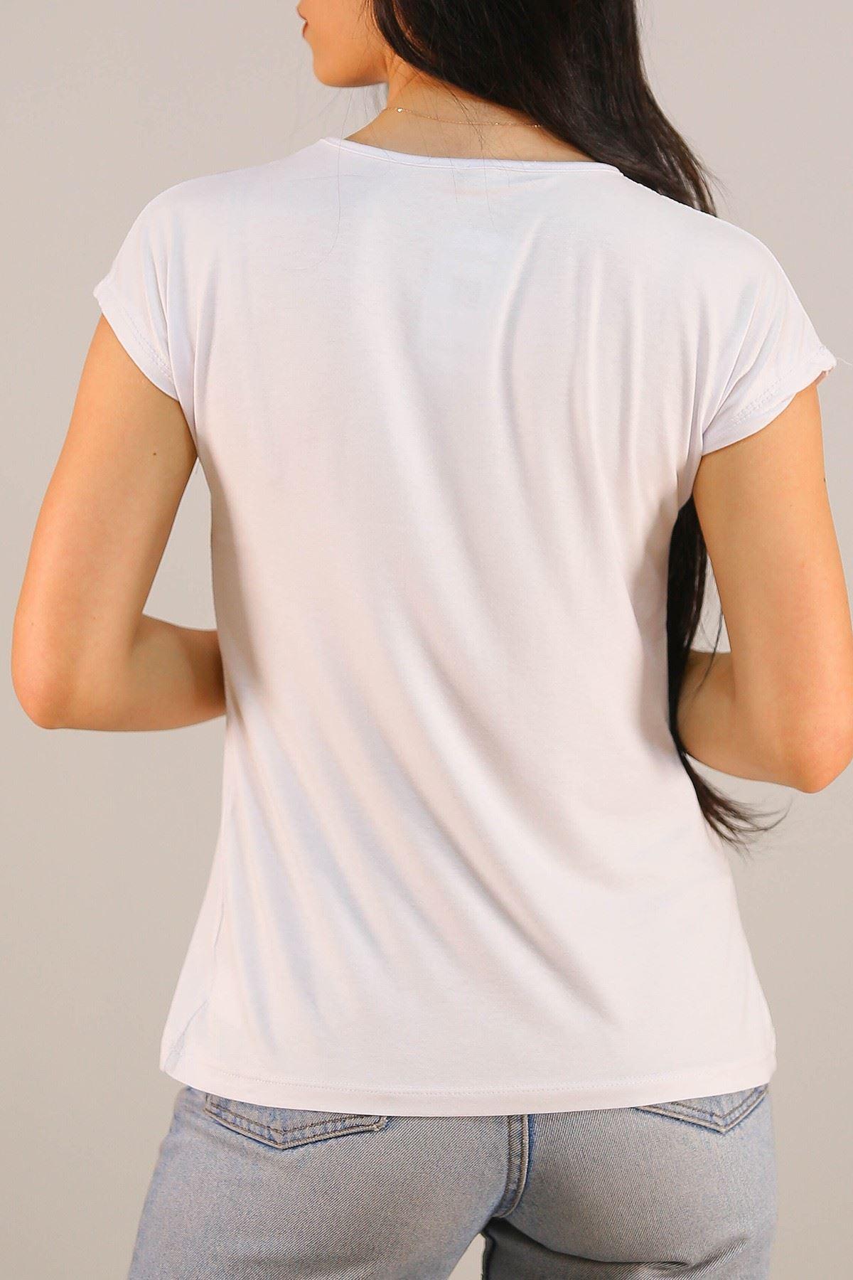 Quenn Baskı Tişört Beyaz - 5052.139.