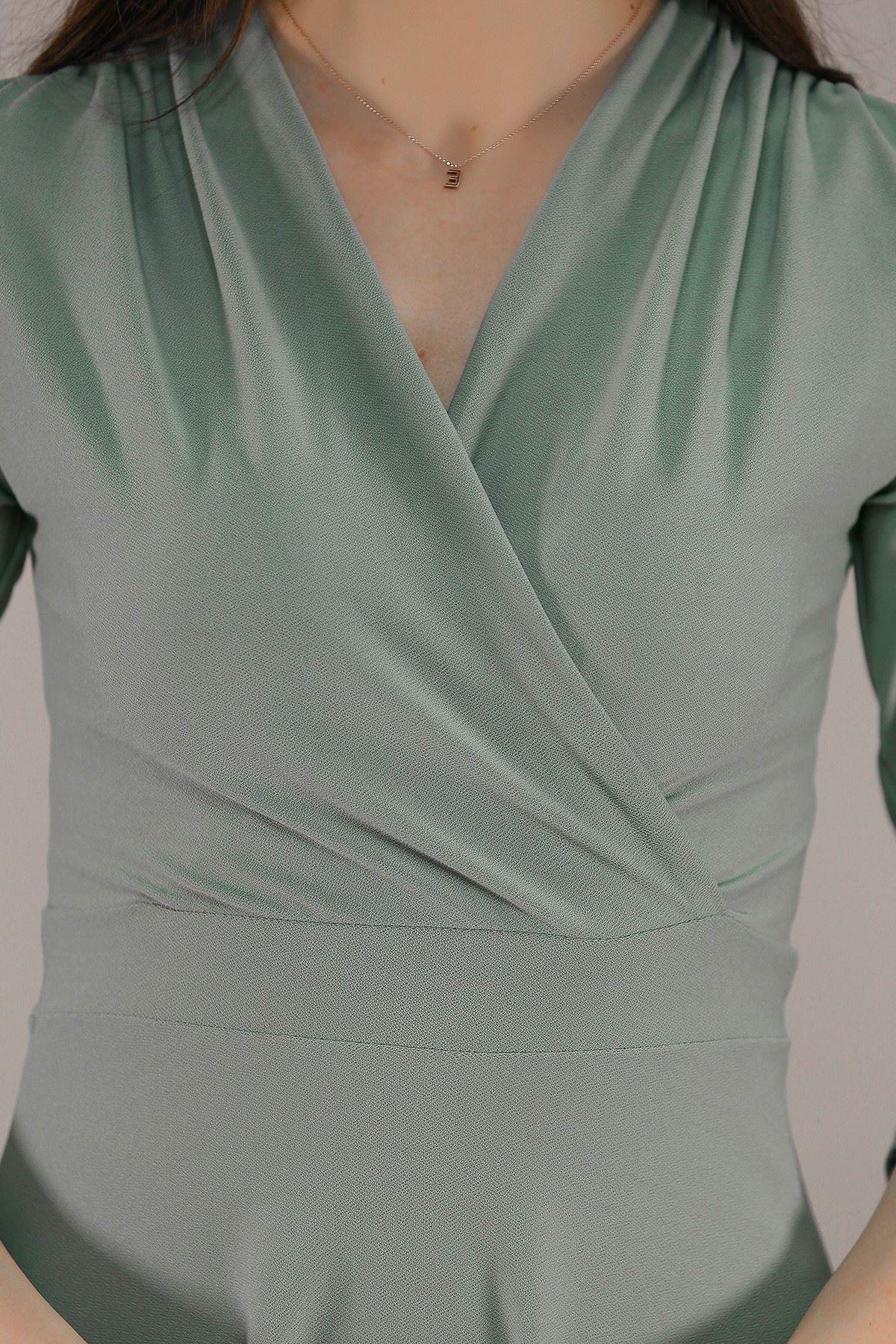 Kruvaze Elbise Mint - 2012.994.