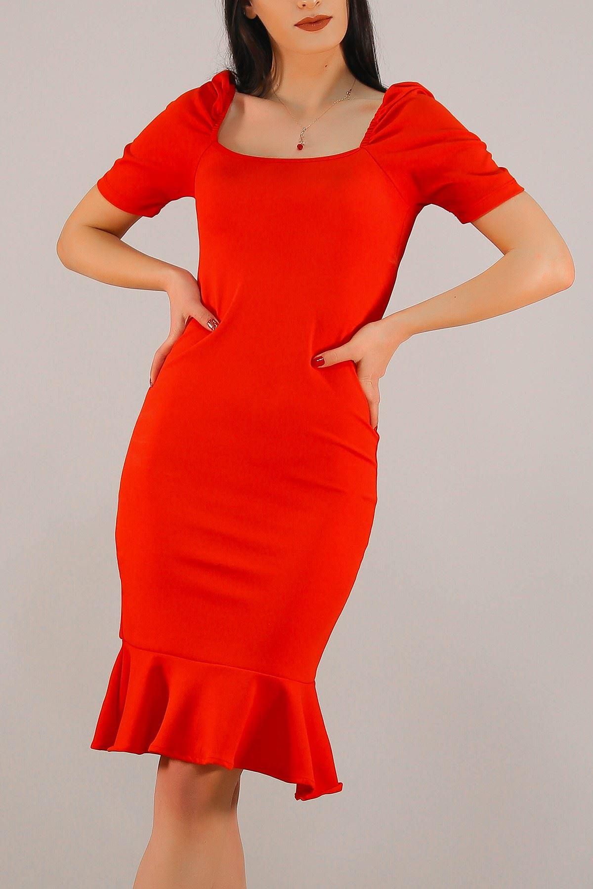 Prenses Kol Elbise Kırmızı - 5198.994.