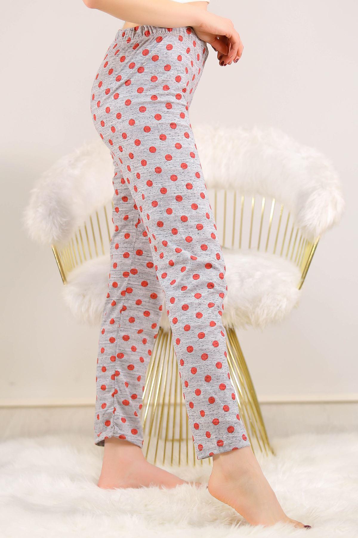 Desenli Pijama Altı Kırmızıpuanlı - 5220.1348.