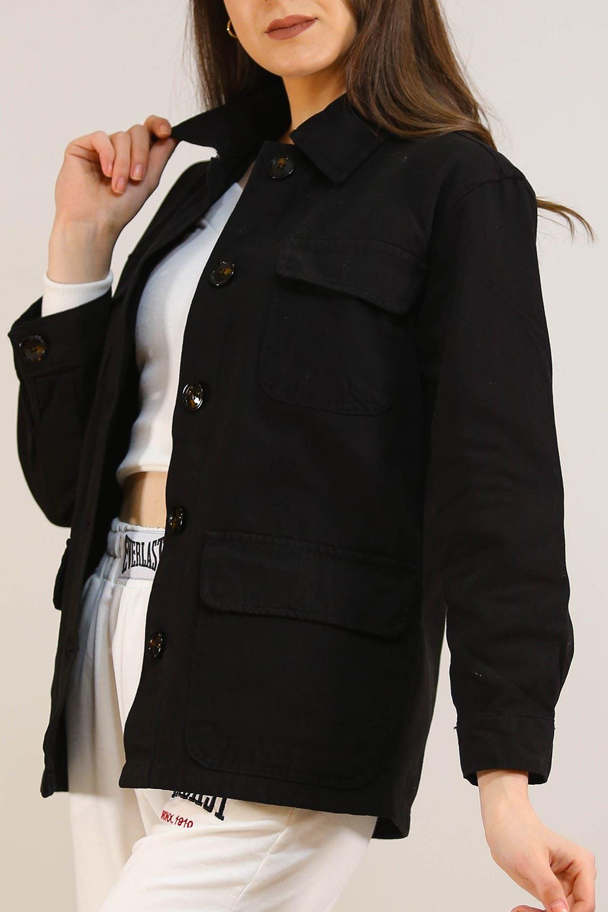 Gabardin Ceket Siyah - 5233.299.