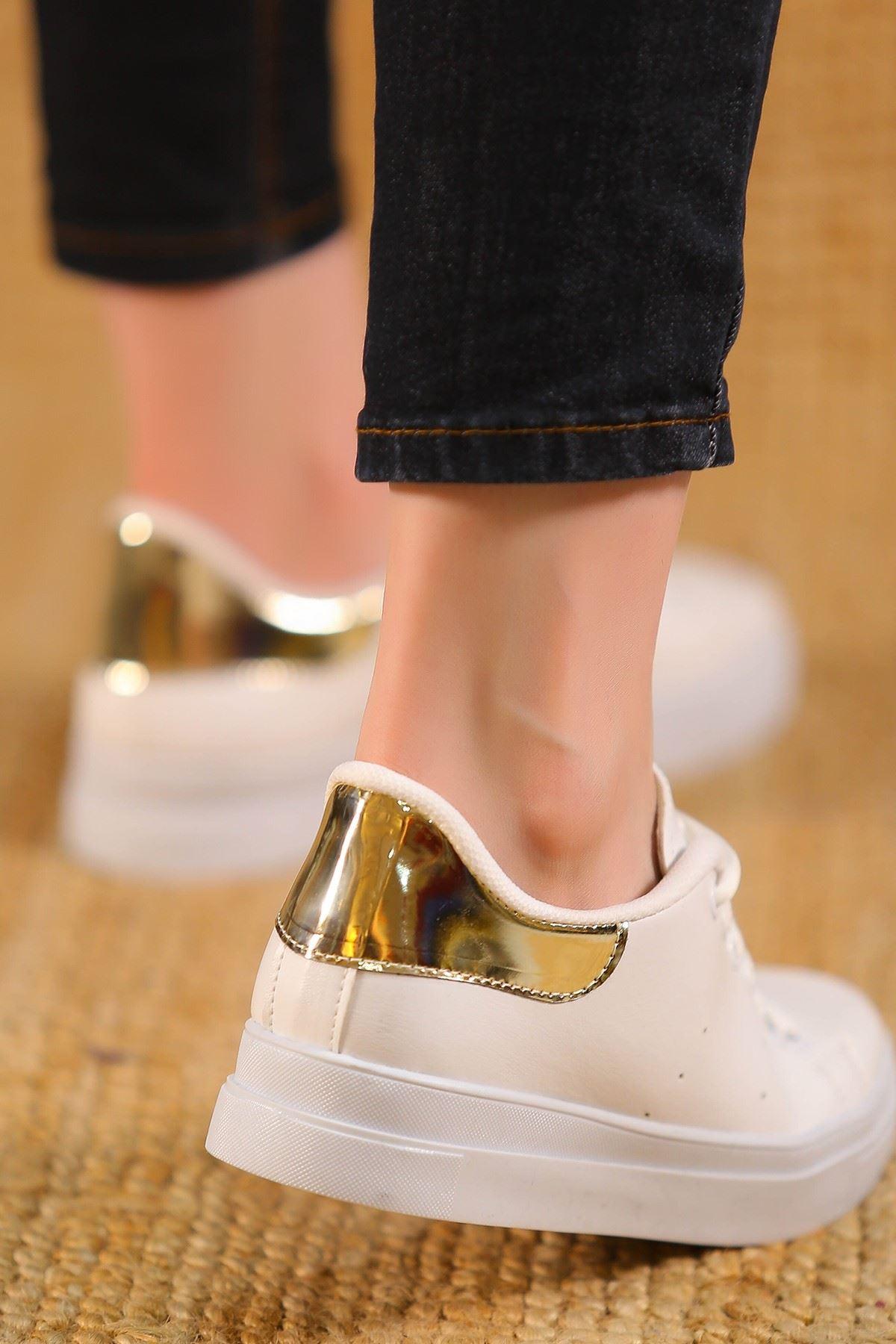 Kalın Tbn Günlük Ayakkabı Beyazgold - 8585.264.