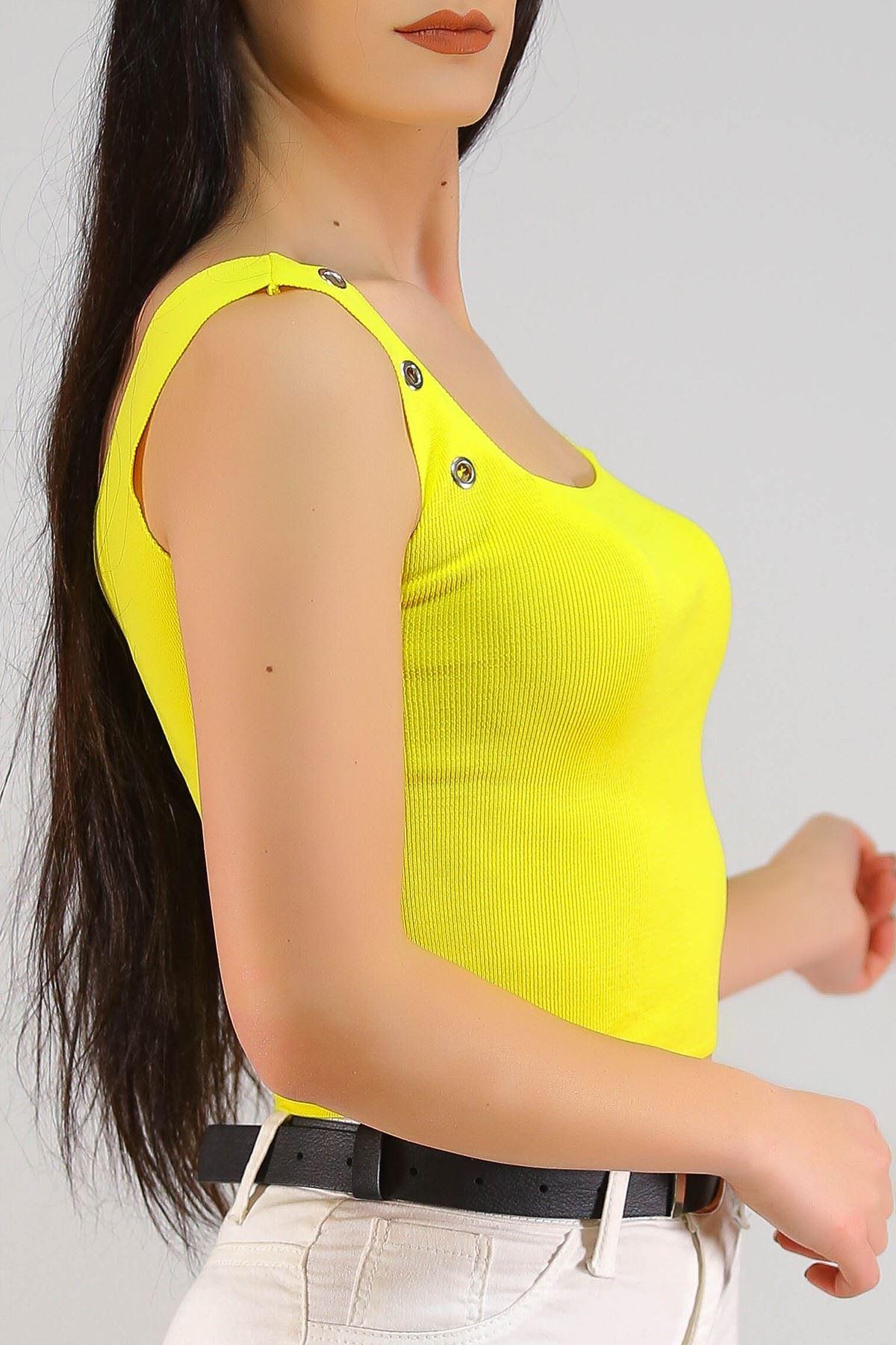 Kuşgözlü Triko Atlet Sarı - 5248.1323.