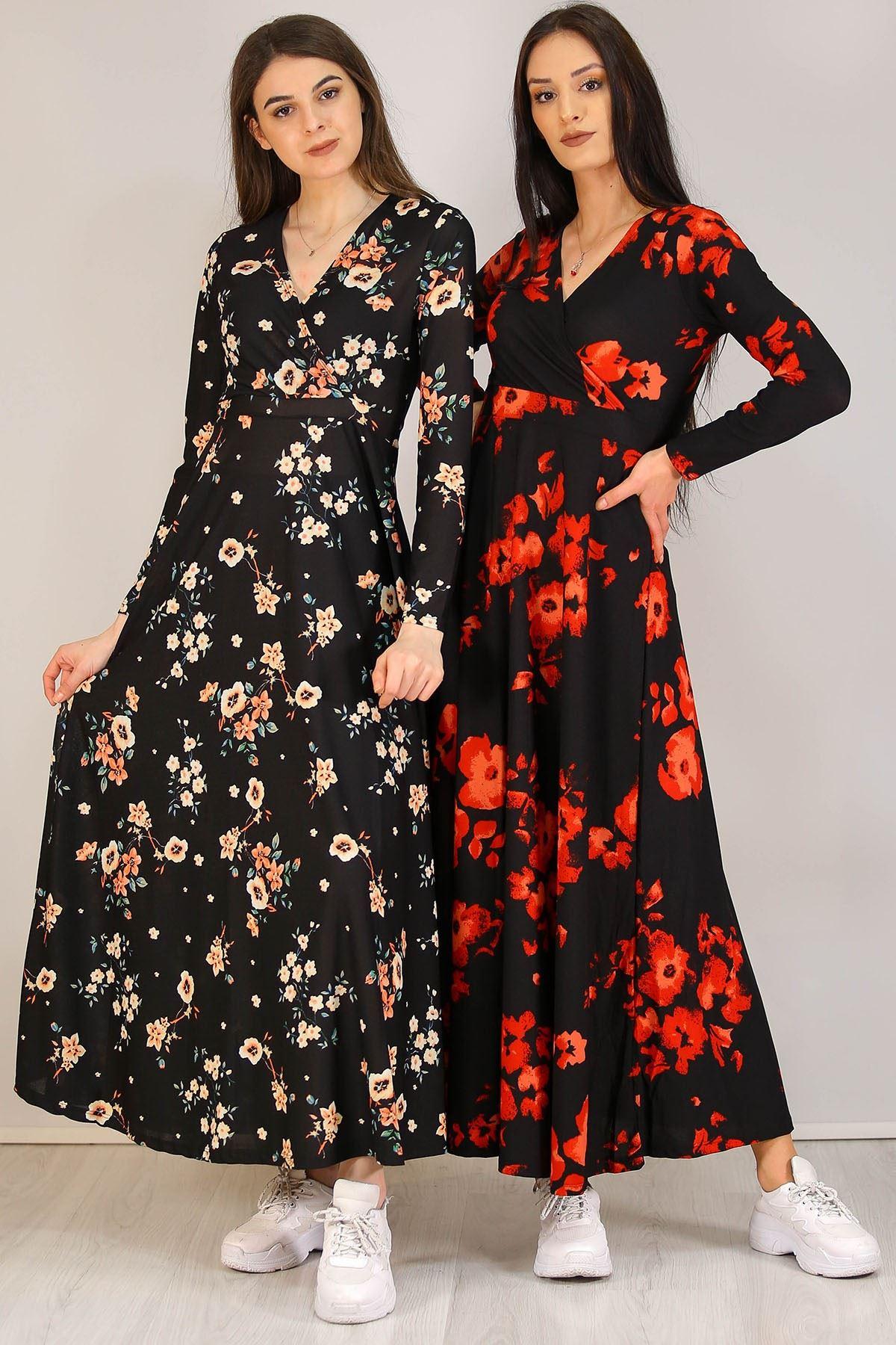 Çiçekli Elbise Siyahçiçekli - 4987.716.