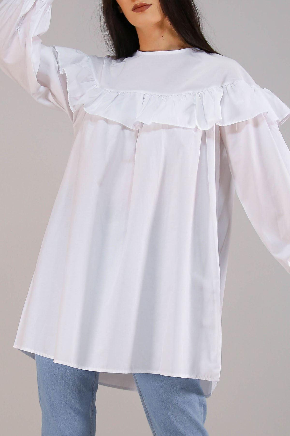 Pelerinli Gömlek Beyaz - 3160.105.