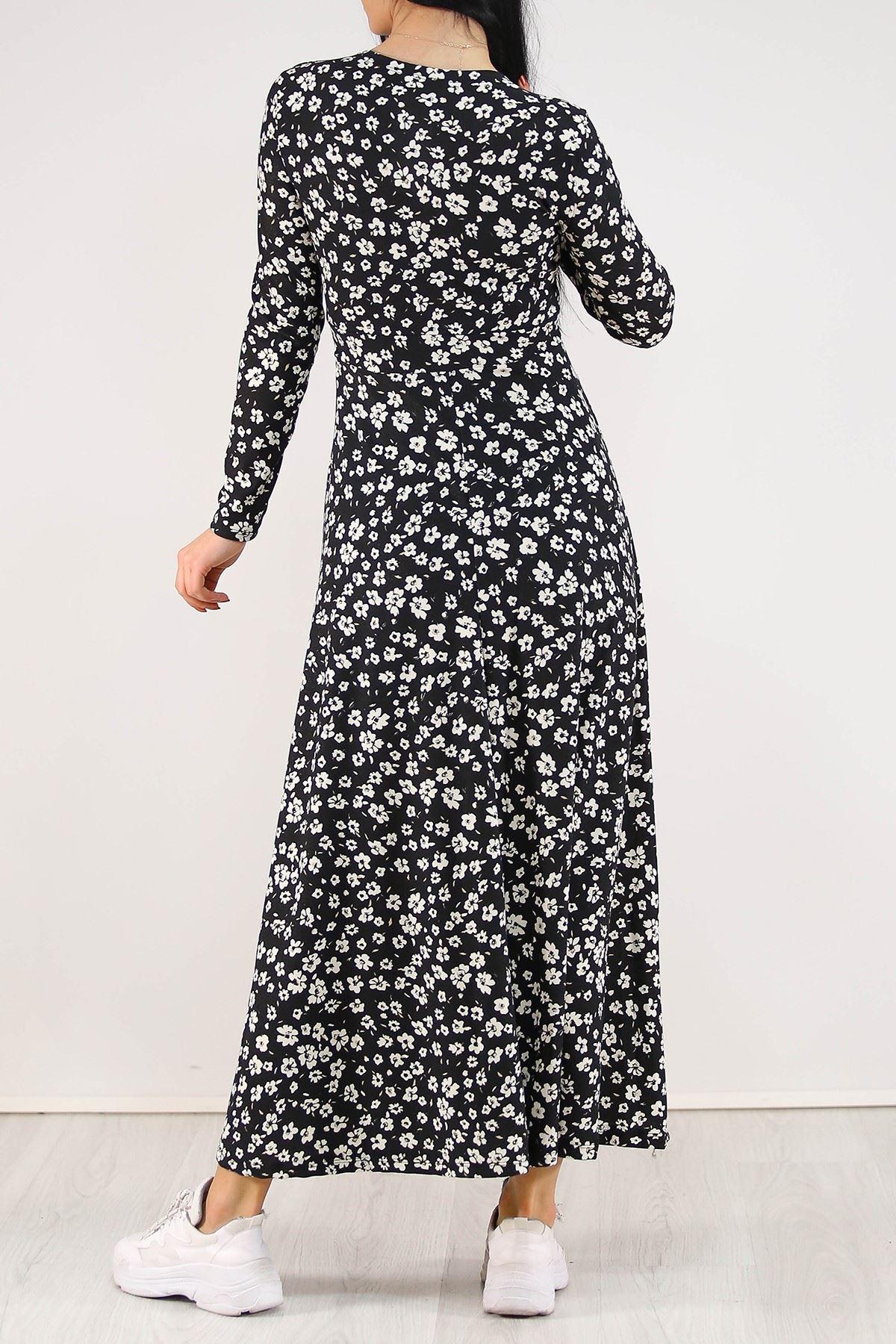 Çiçekli Elbise Siyah - 4987.716.