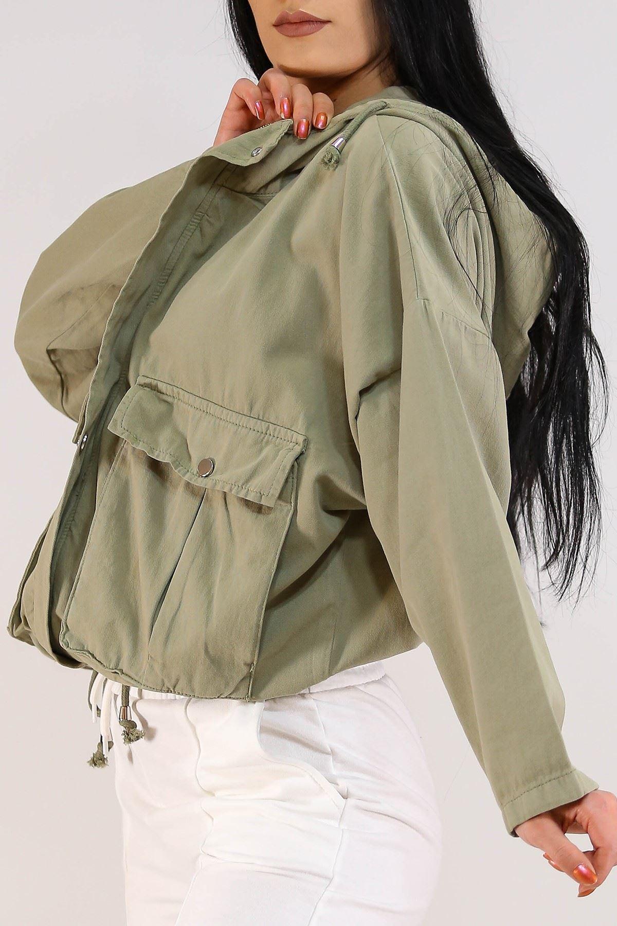 Salaş Kapşonlu Ceket Küf Yeşili - 2105.223.