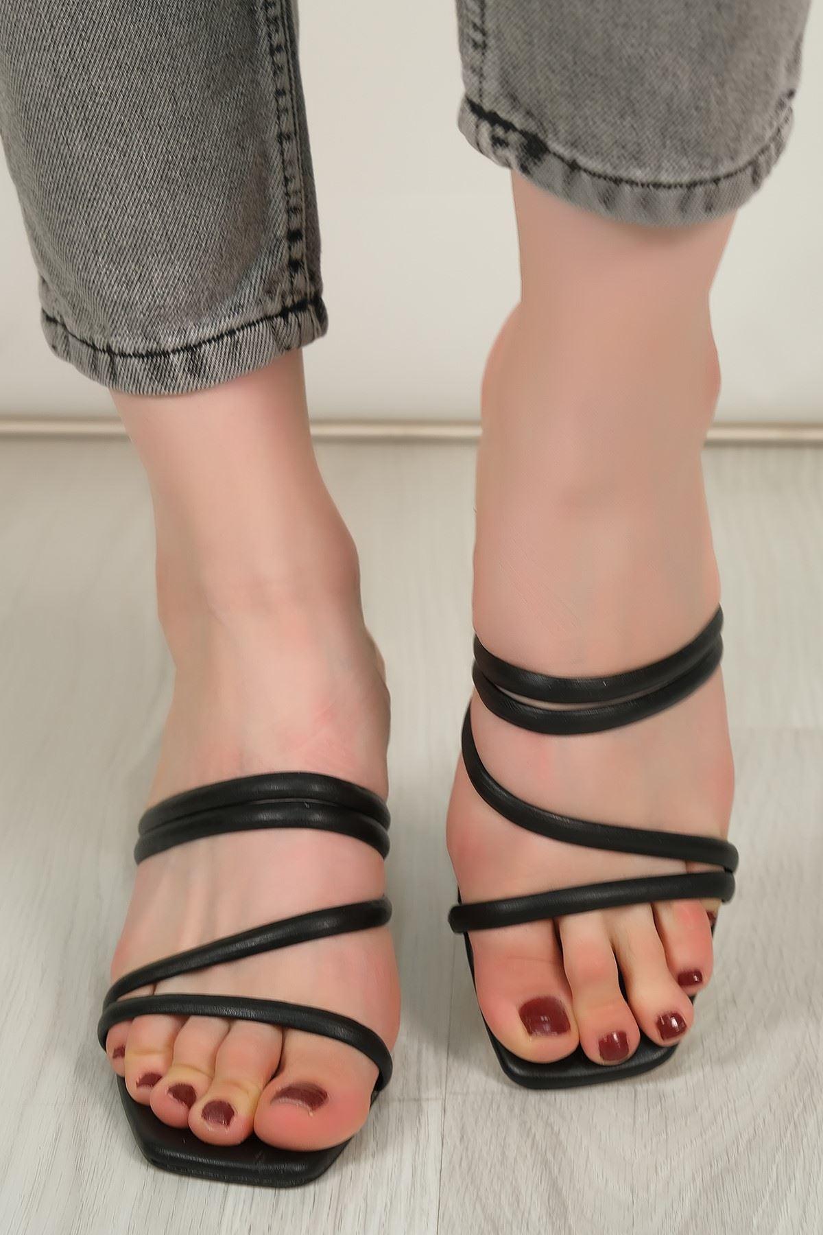 5 Cm Topuklu Ayakkabı Siyahderi - 5436.264.